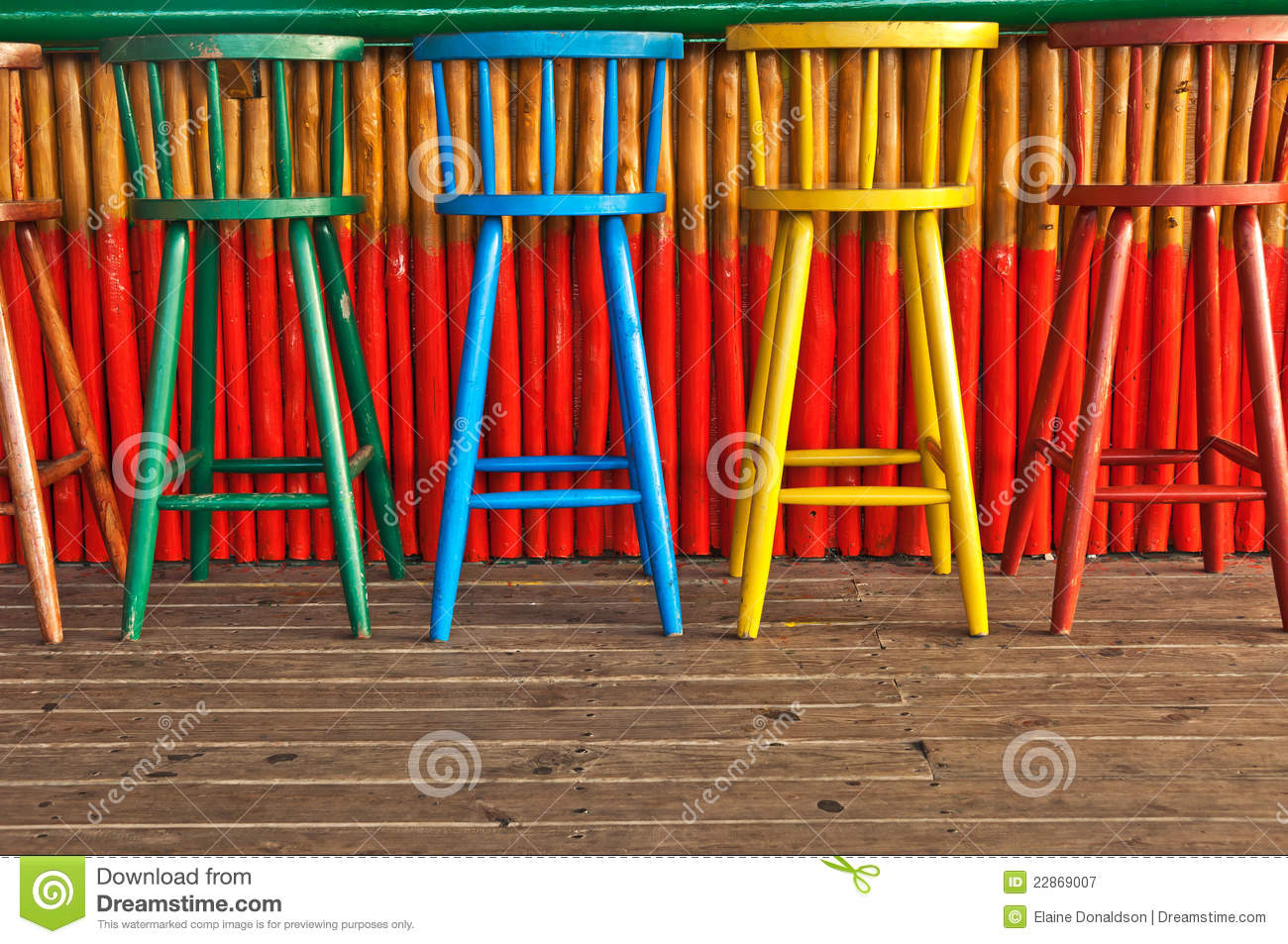 Download Old Bar Stools stock image. Image of available, colourful - 22869007