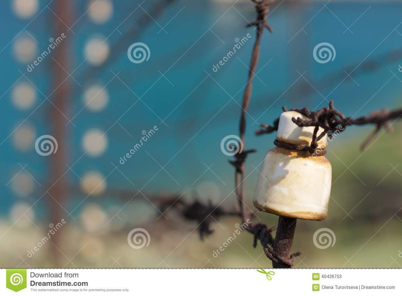 Barbed Wire Electric Fence Editorial Stock Photo Image 1255283