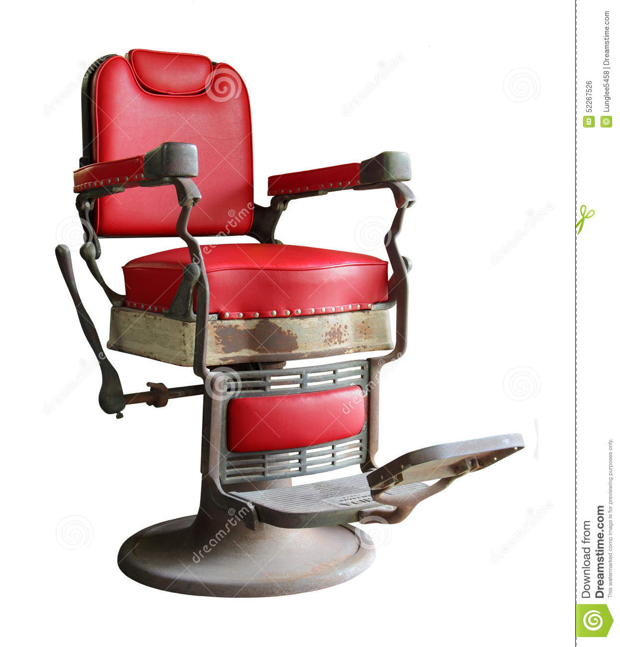 Old barber shop chairs - Old Barber Chair Royalty Free Stock Image