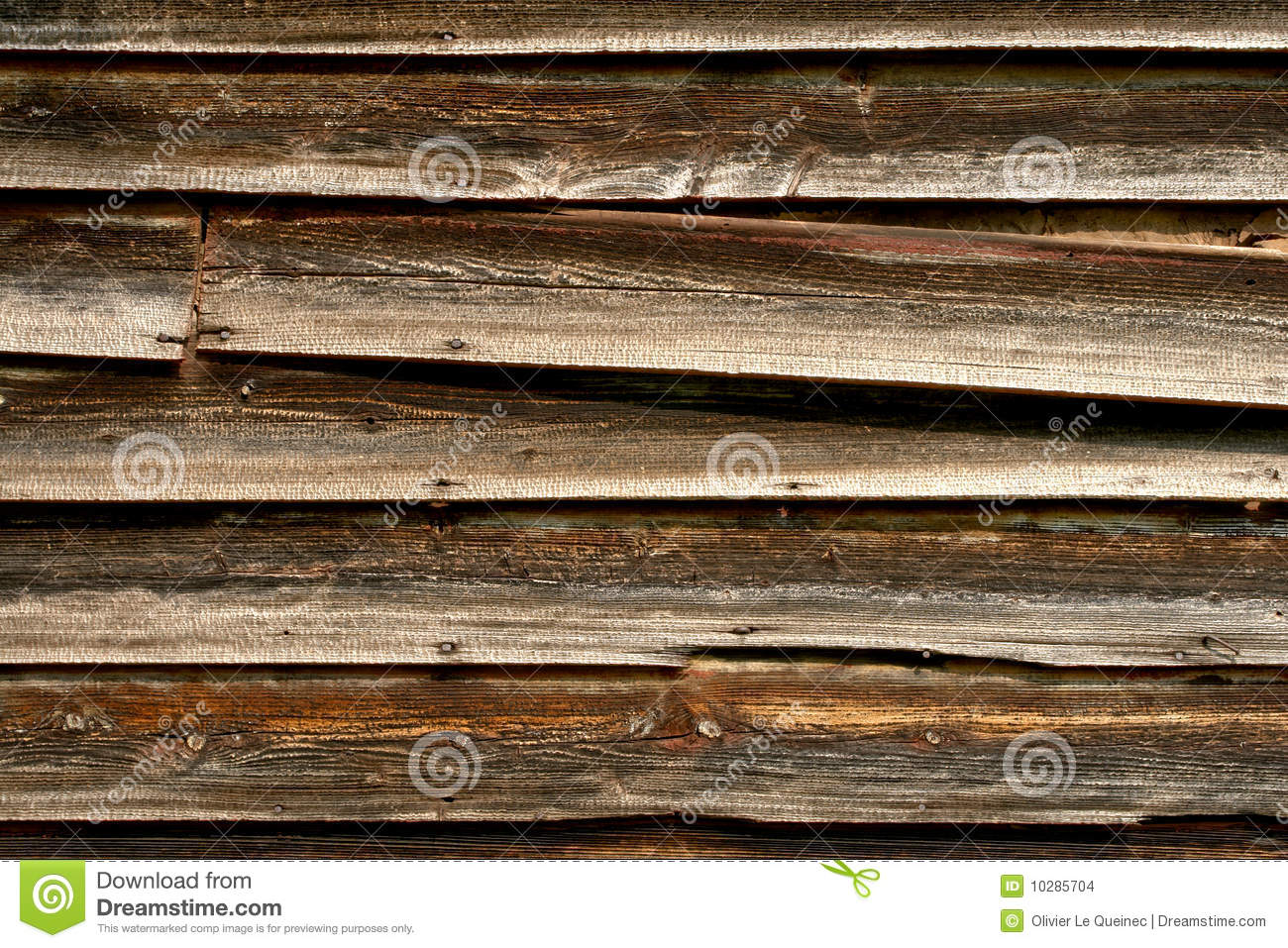 Old Barn Distressed Wood Siding Background Stock Photo