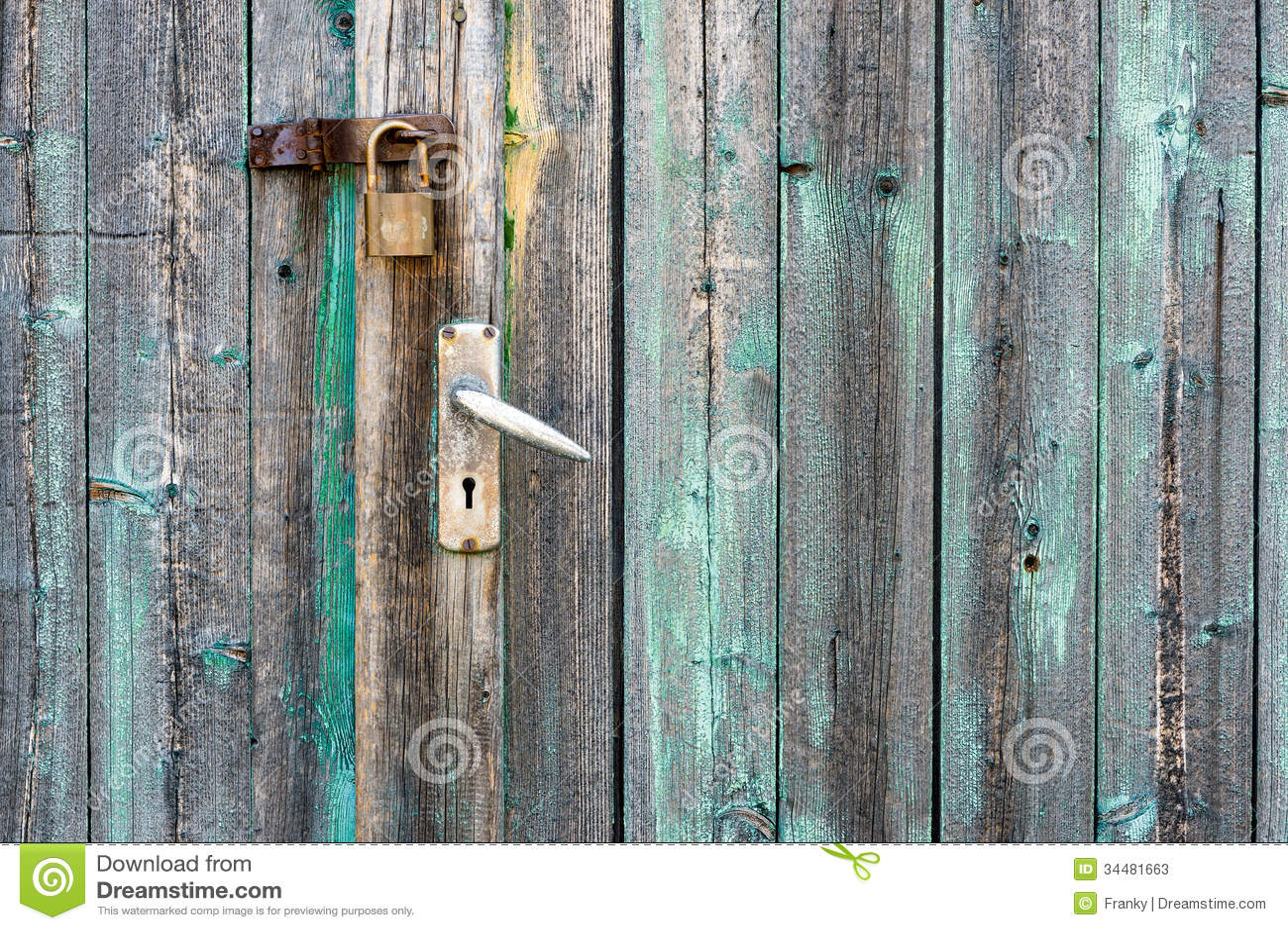 White Barn Door Background