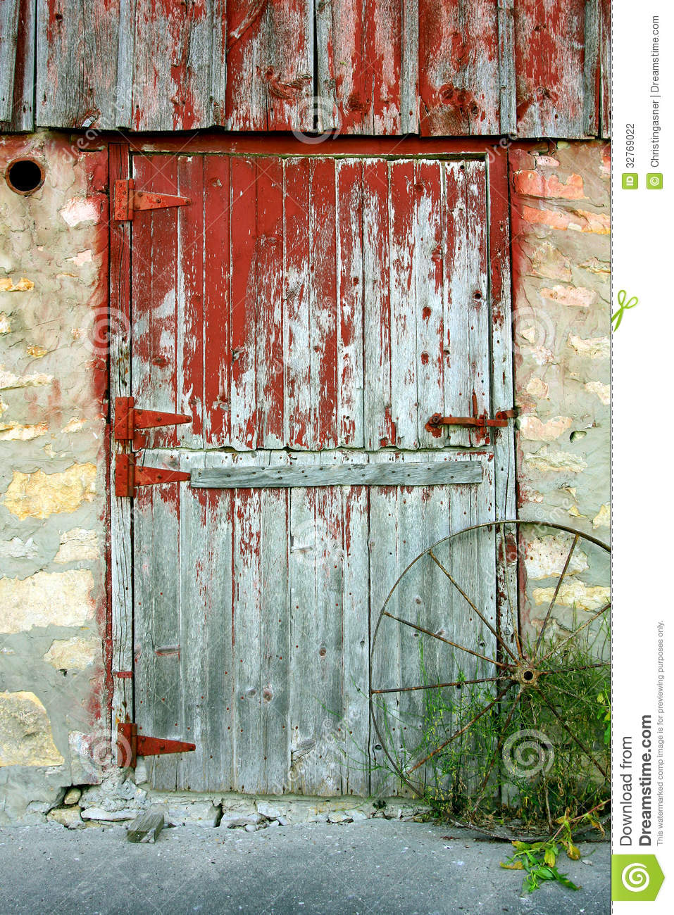 old barn door stock photo image of shabby broken rustic With barn door red paint