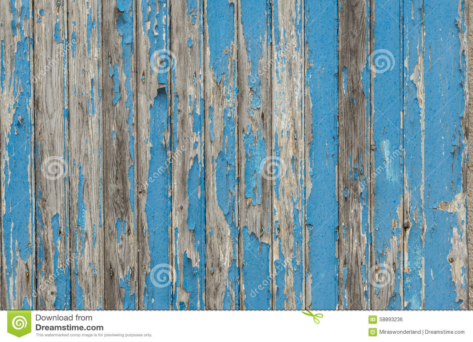 Old Blue Barn Door Shelves With Paint Peeling Of
