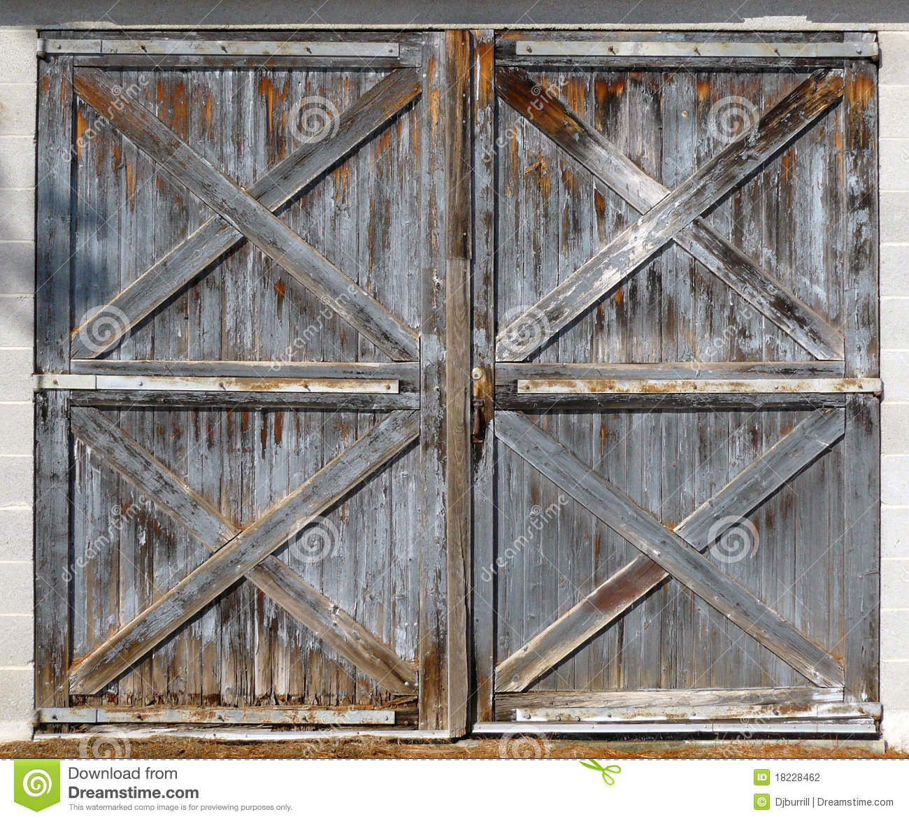 Old barn double doors stock photo image of dirty lumber for Small double barn doors