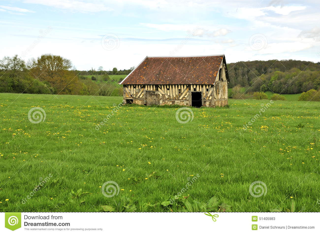 Old Barn In French Countryside Stock Photo Image - French country side