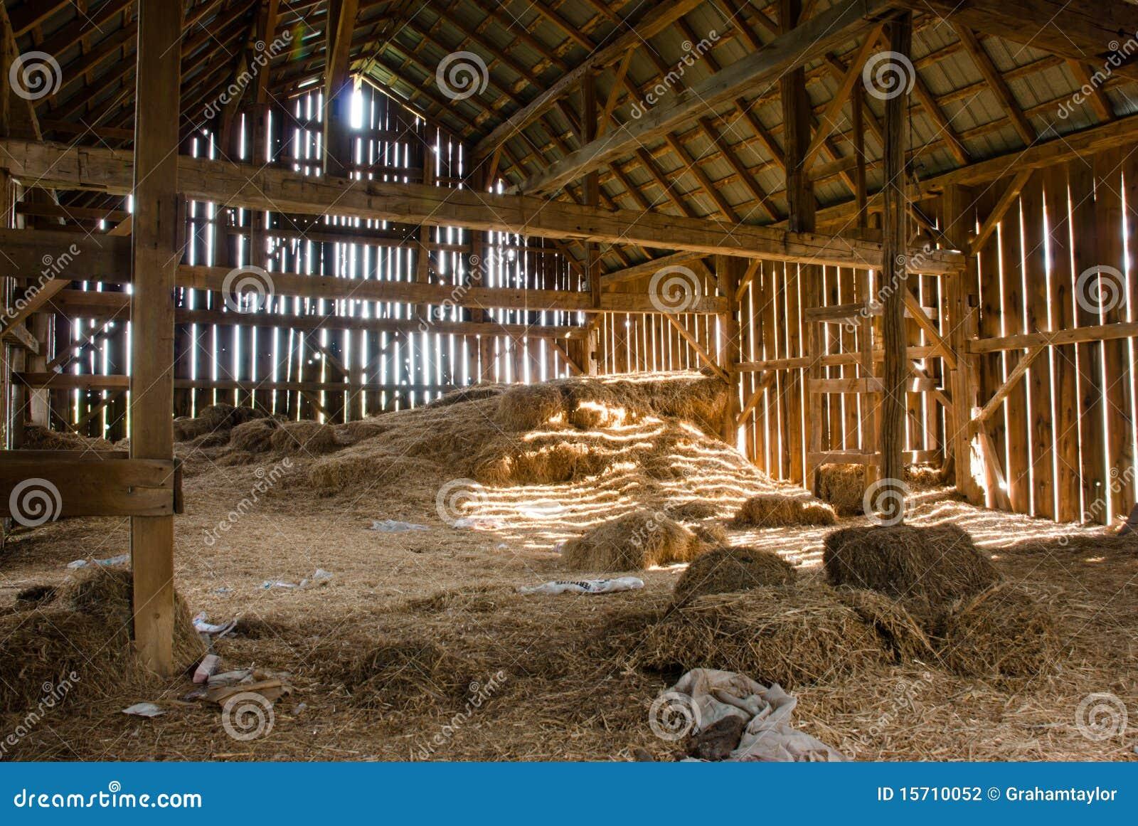 Old Barn Full Of Hay Stock Photo Image Of Rickety Door