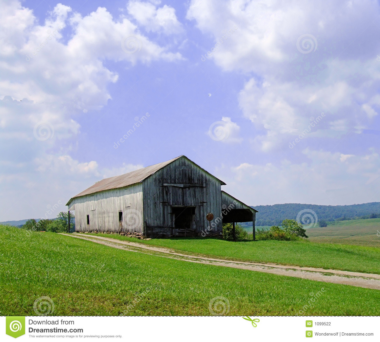 Old Barn In Kentucky Stock Photography
