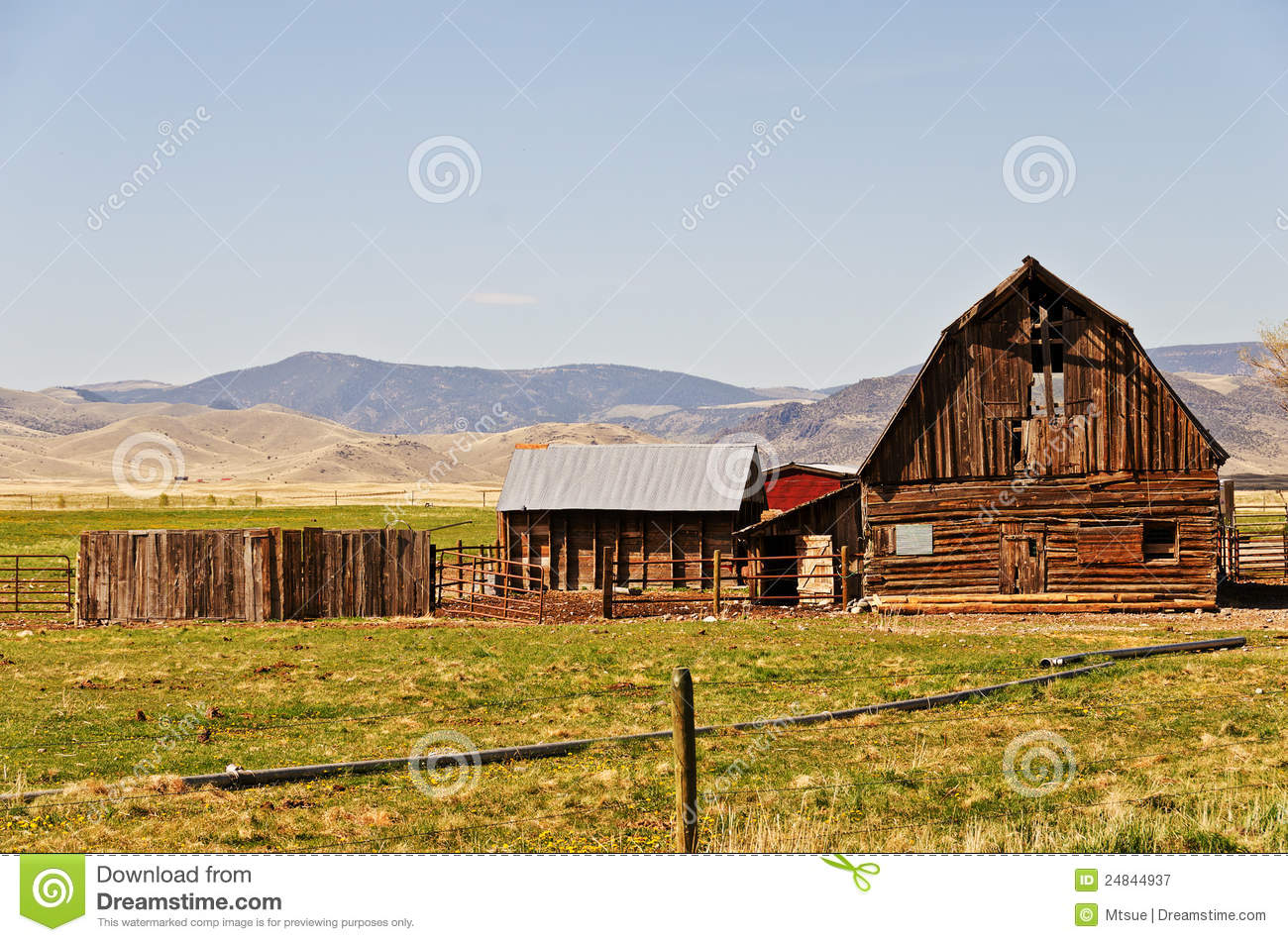 Old Barn On A Ranch Royalty Free Stock Photography Image 24844937