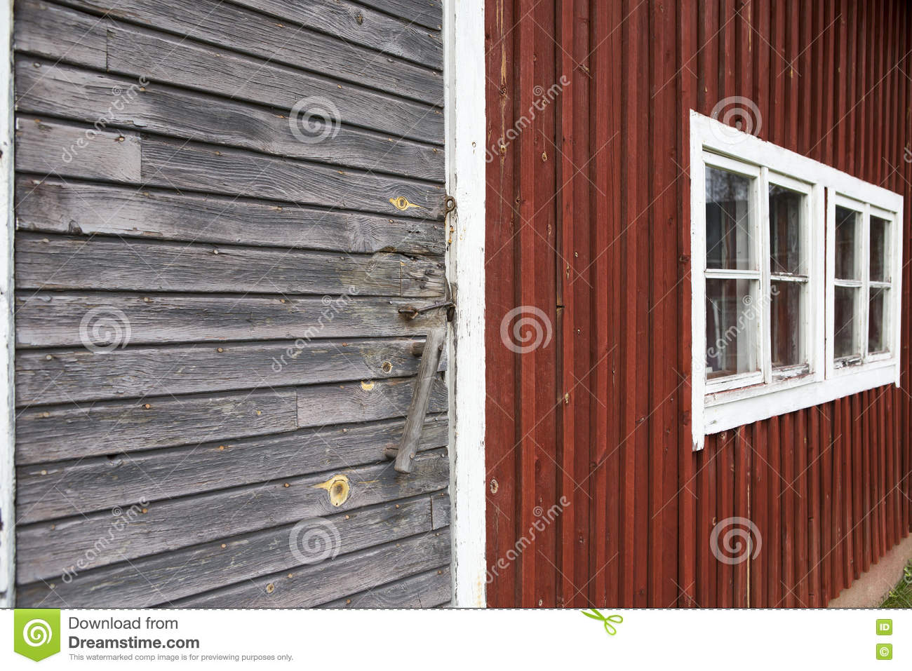 red and white barn doors. an old barn with red wooden walls. stock image - of exterior, barn: 79528217 and white doors