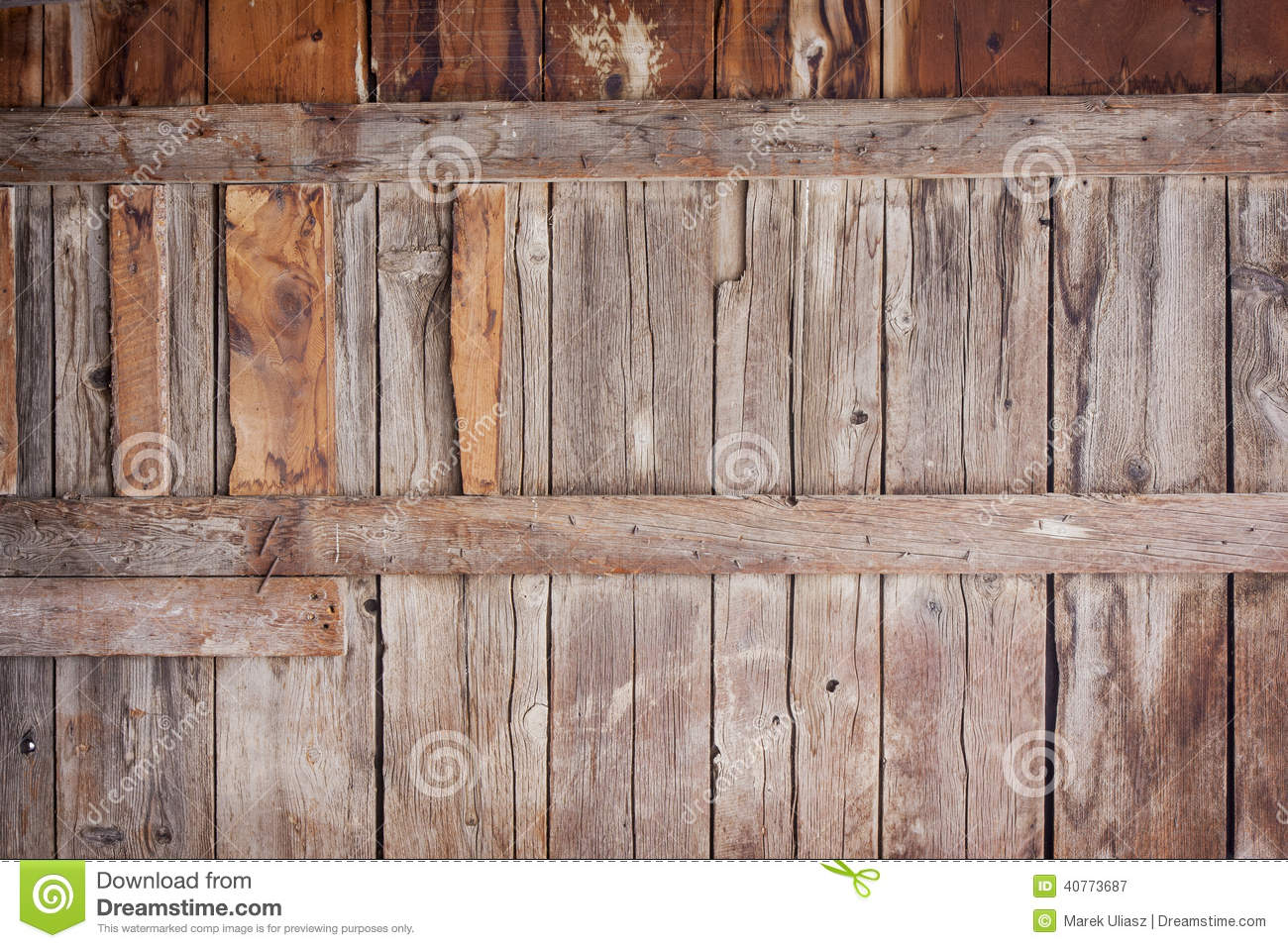 Old barn wood background stock image of weathered