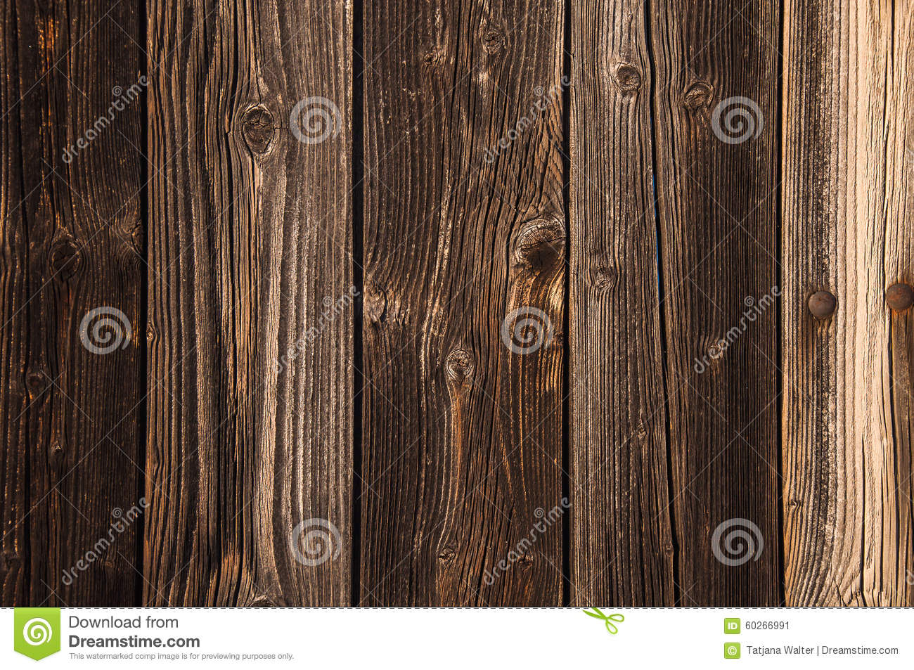 Natural brown barn wood floor / wall texture background pattern. Wood ...