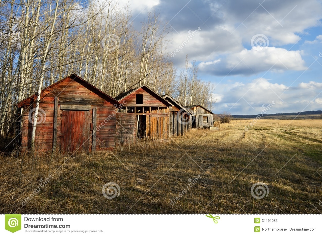 Old barns and sheds stock image image of empty ancient for Sheds and barns