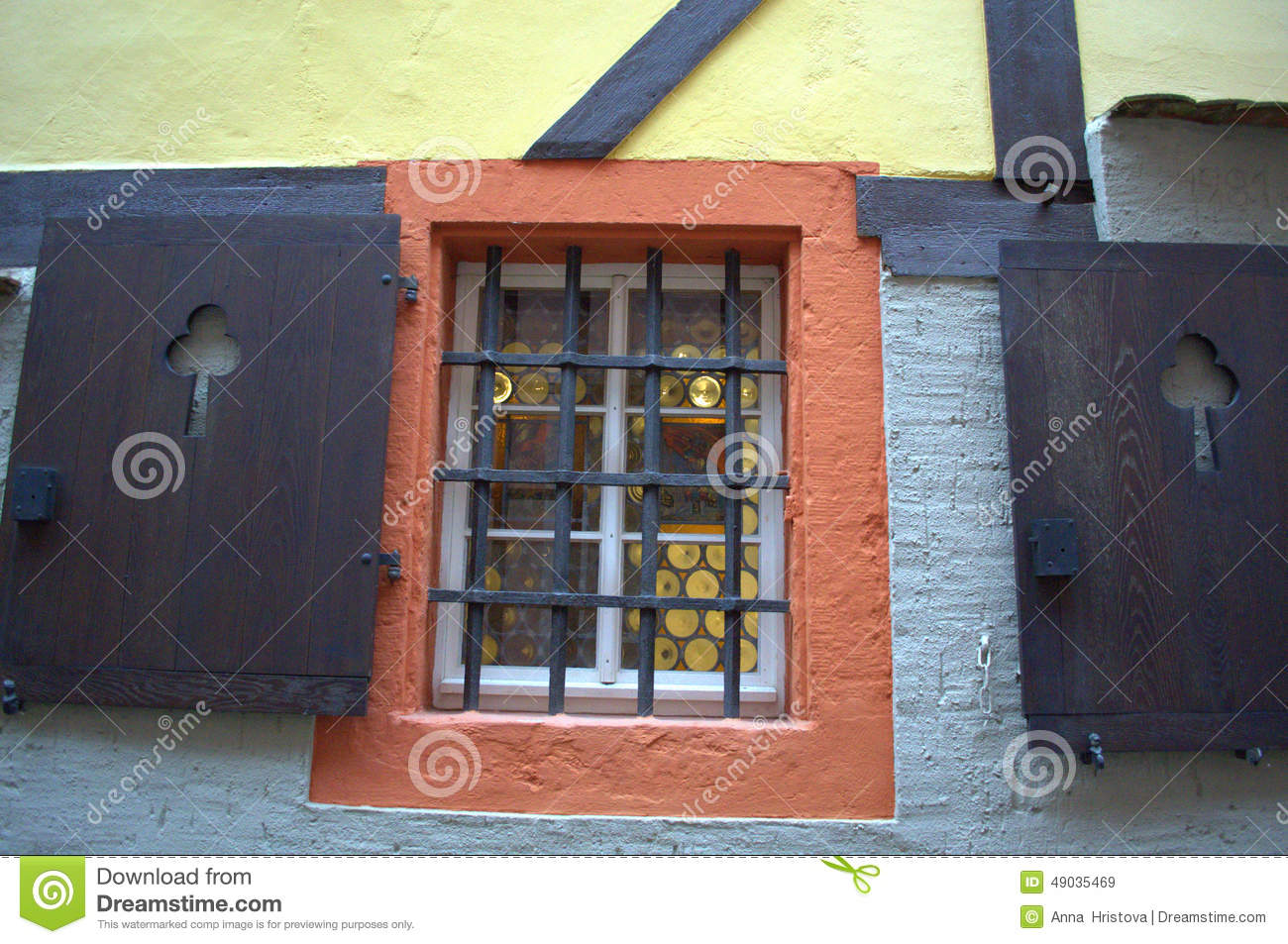 Old barred window stock photo image 49035469 for Window in german