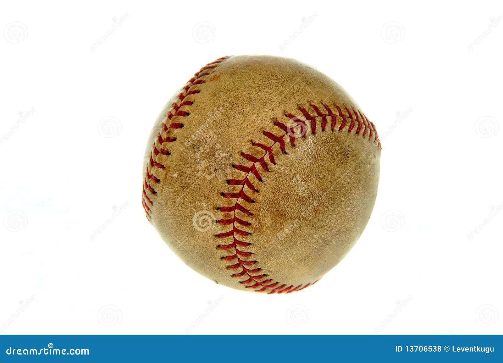 Old baseball ball stock photo. Image of baseball, leather ...