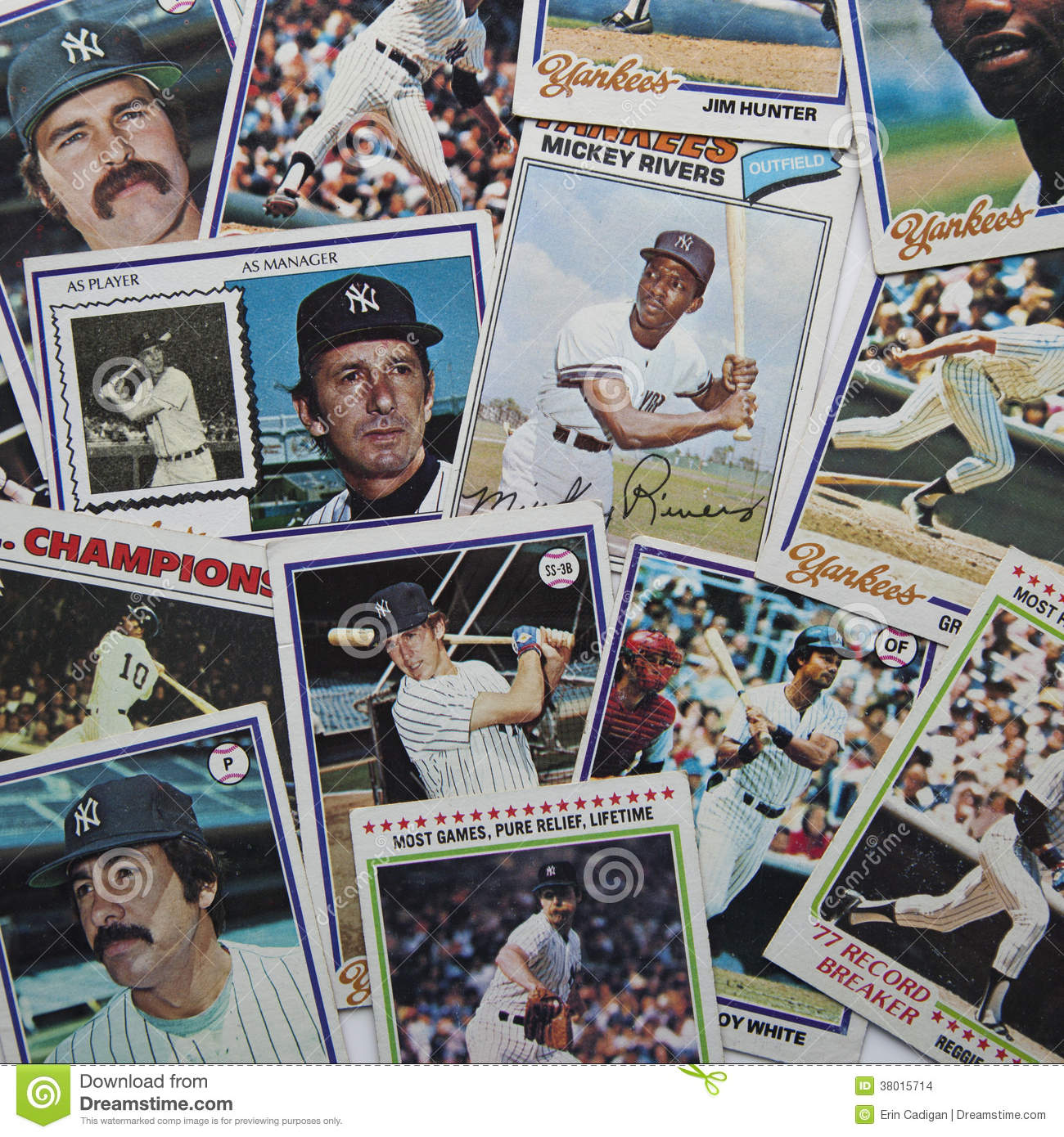Old Baseball Cards Editorial Stock Image Image Of Collect 38015714