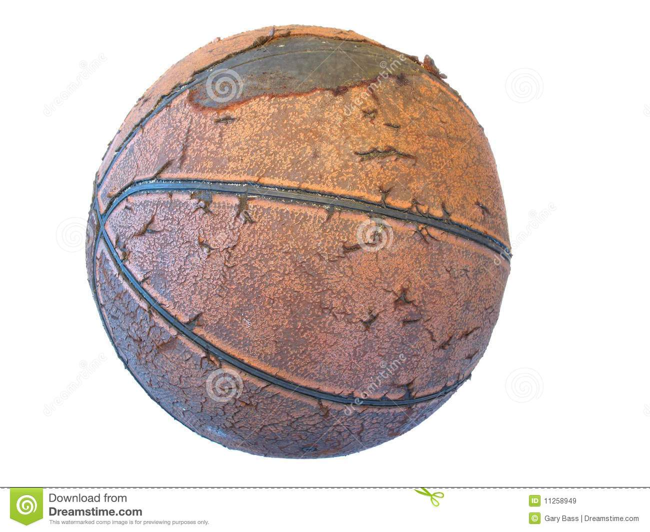 Old Basketball Royalty Free Stock Images - Image: 11258949
