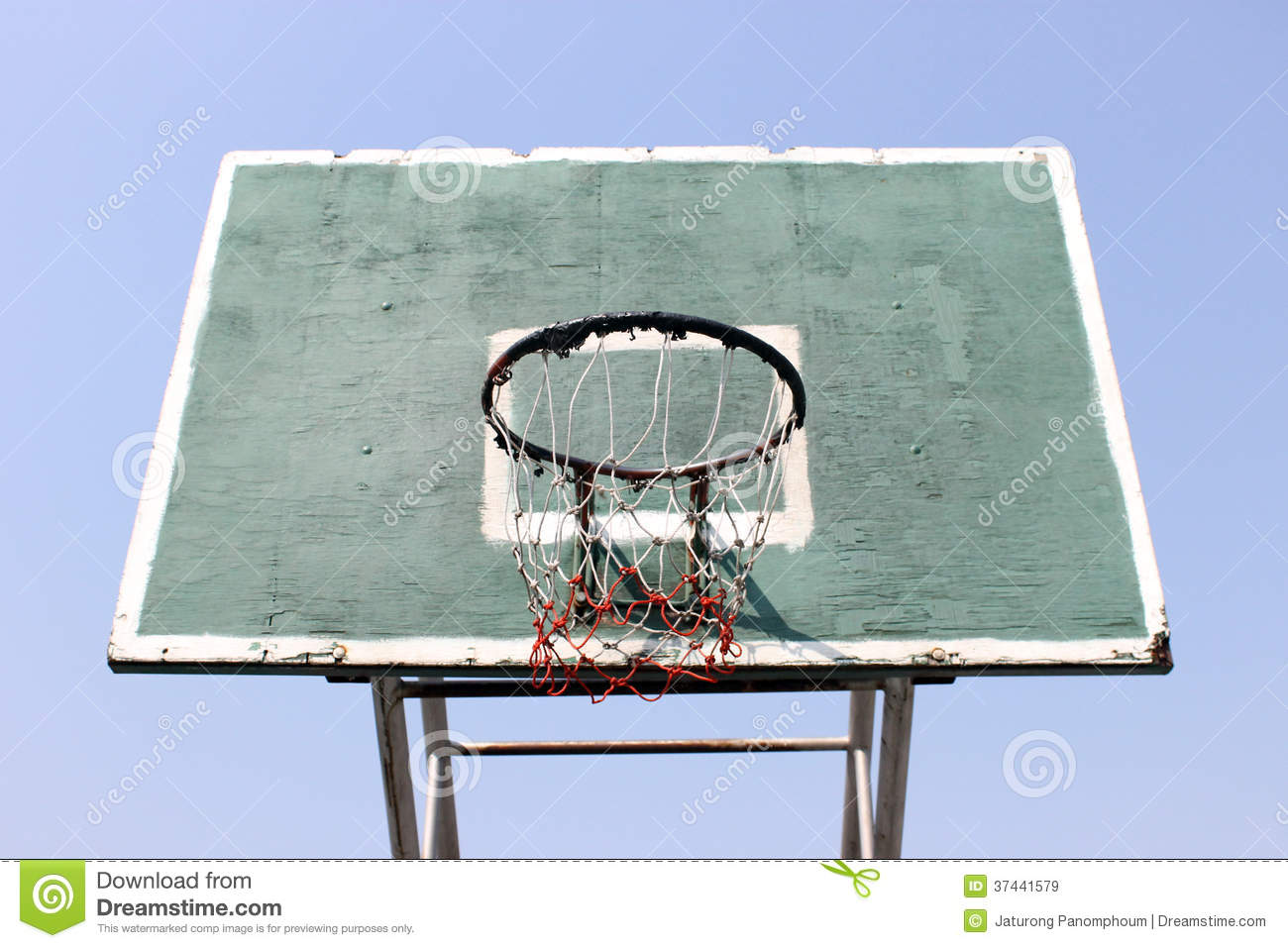 Old Basketball Hoop Royalty Free Stock Images Image