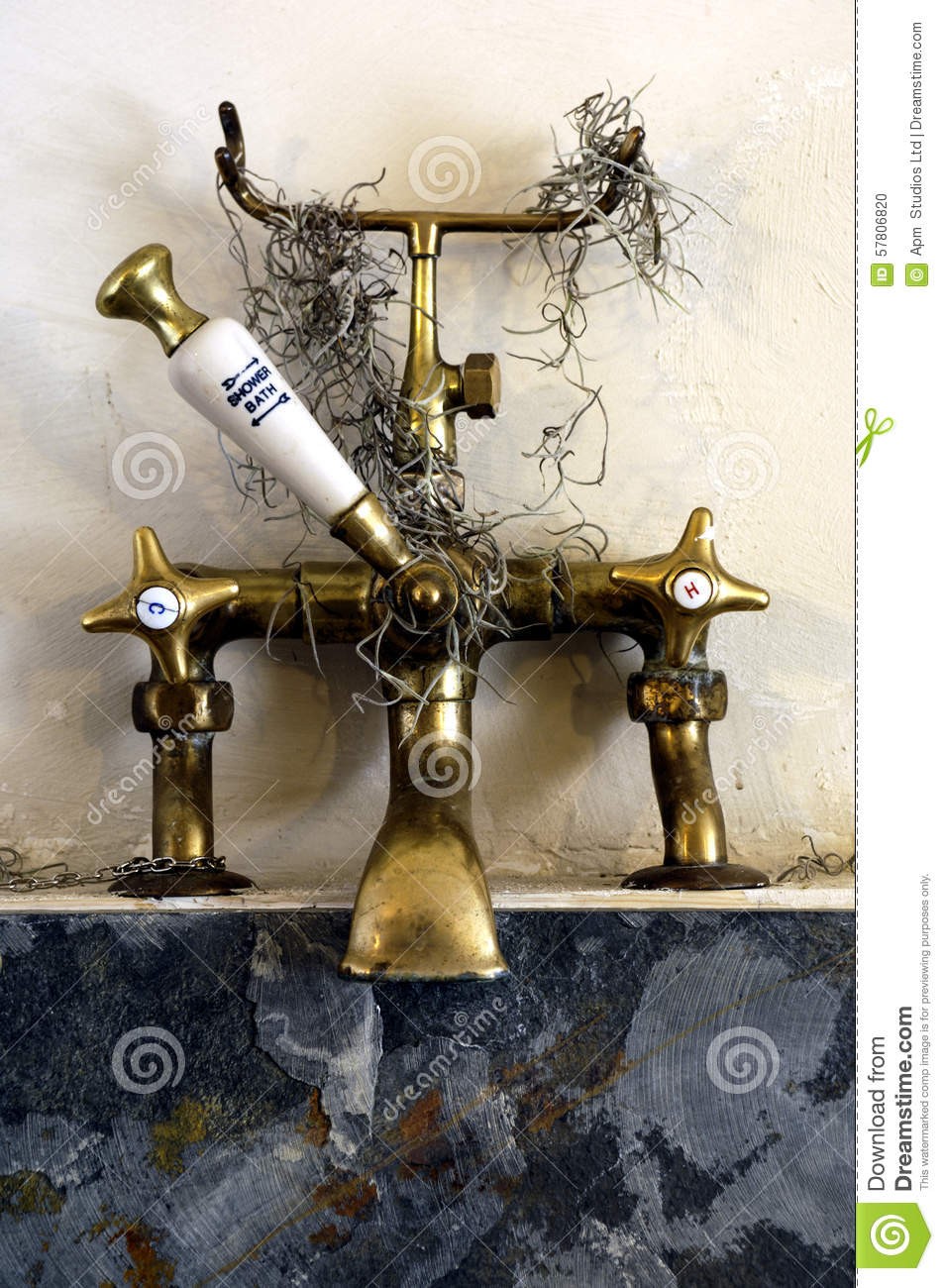 Old bath taps stock photo. Image of object, house, beautiful ...