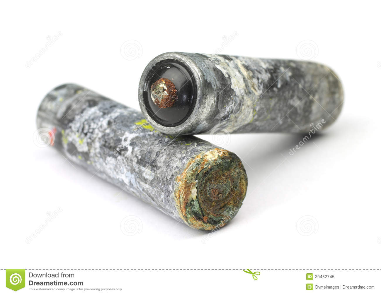 old-batteries-corroded-white-background-