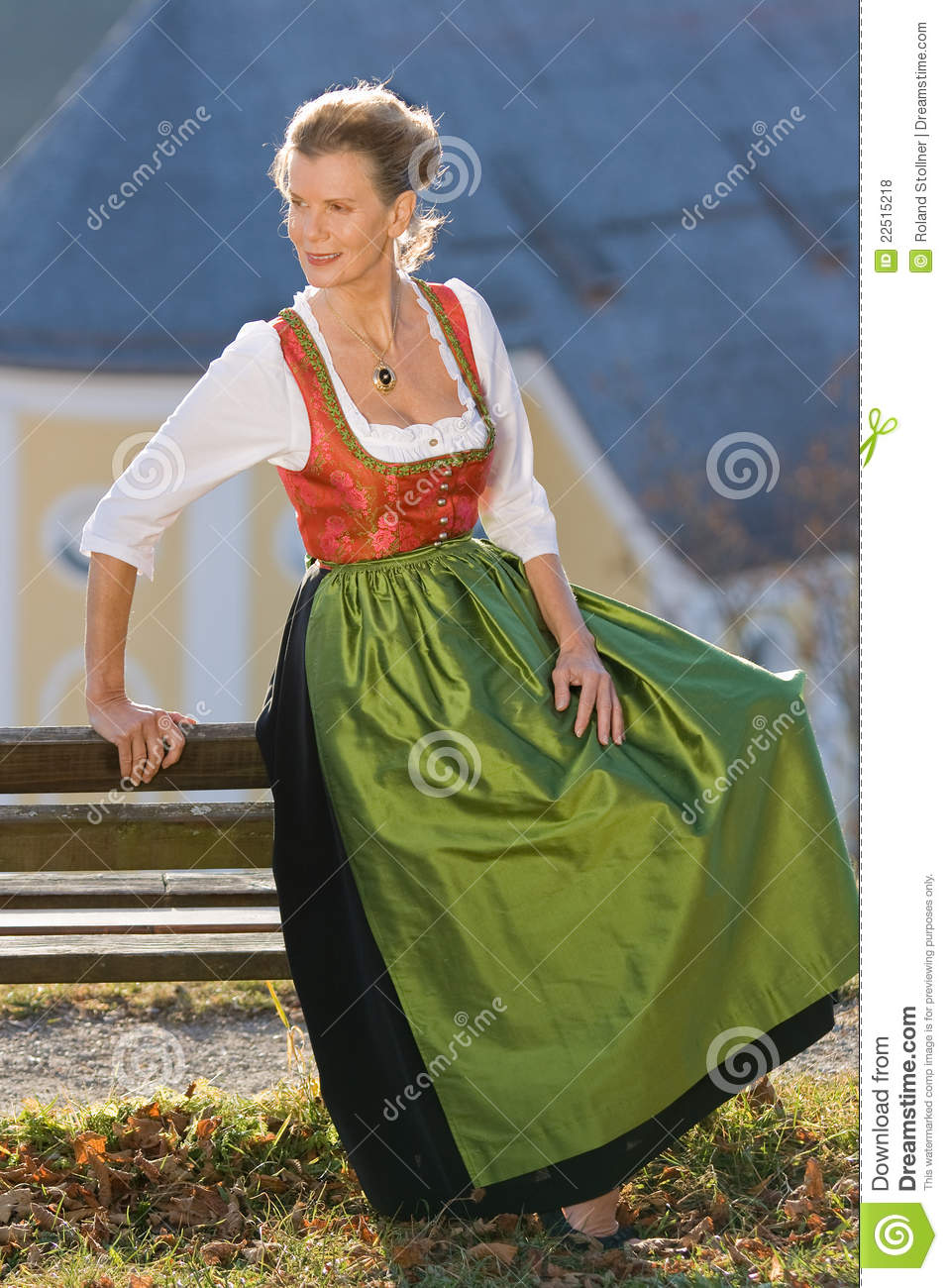 Old Bavarian Woman In Traditional Dress Royalty Free Stock