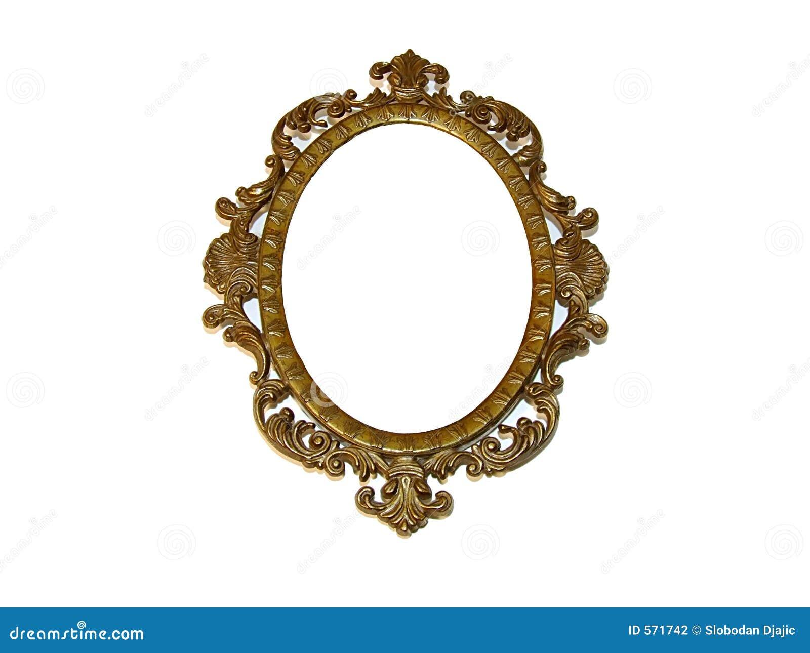 Old beautiful golden frame