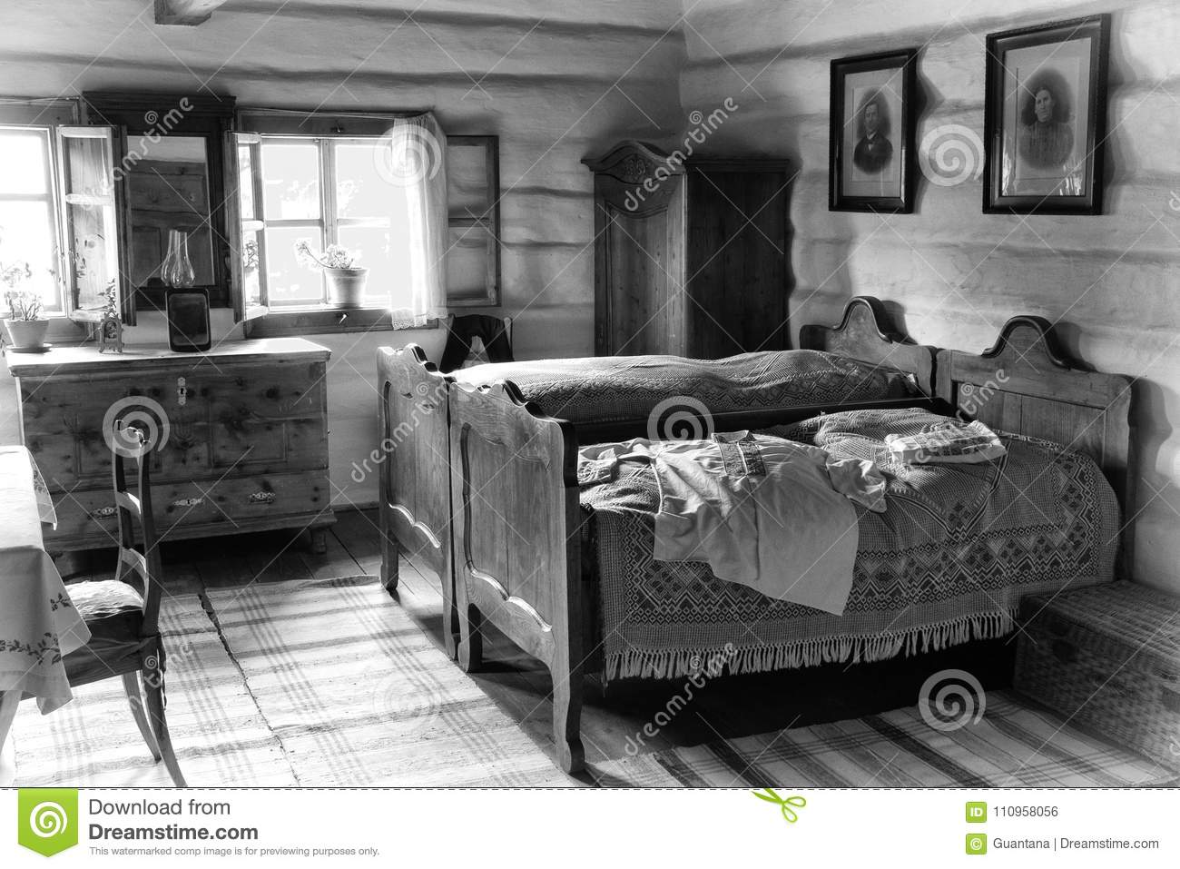 Old Bedroom Editorial Photo Image Of Historical Dwelling 110958056
