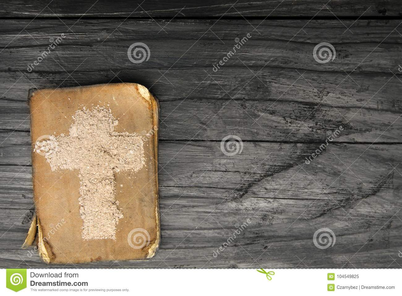 Old bible and cross of ash symbols of ash wednesday stock image old bible and cross of ash symbols of ash wednesday buycottarizona Image collections