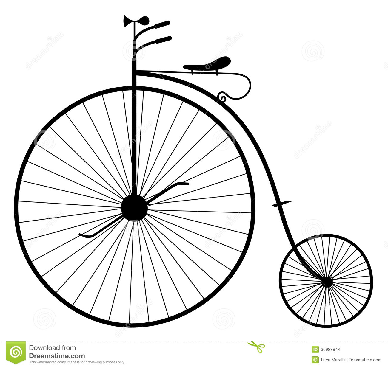 Bicycle illustration retro - photo#17