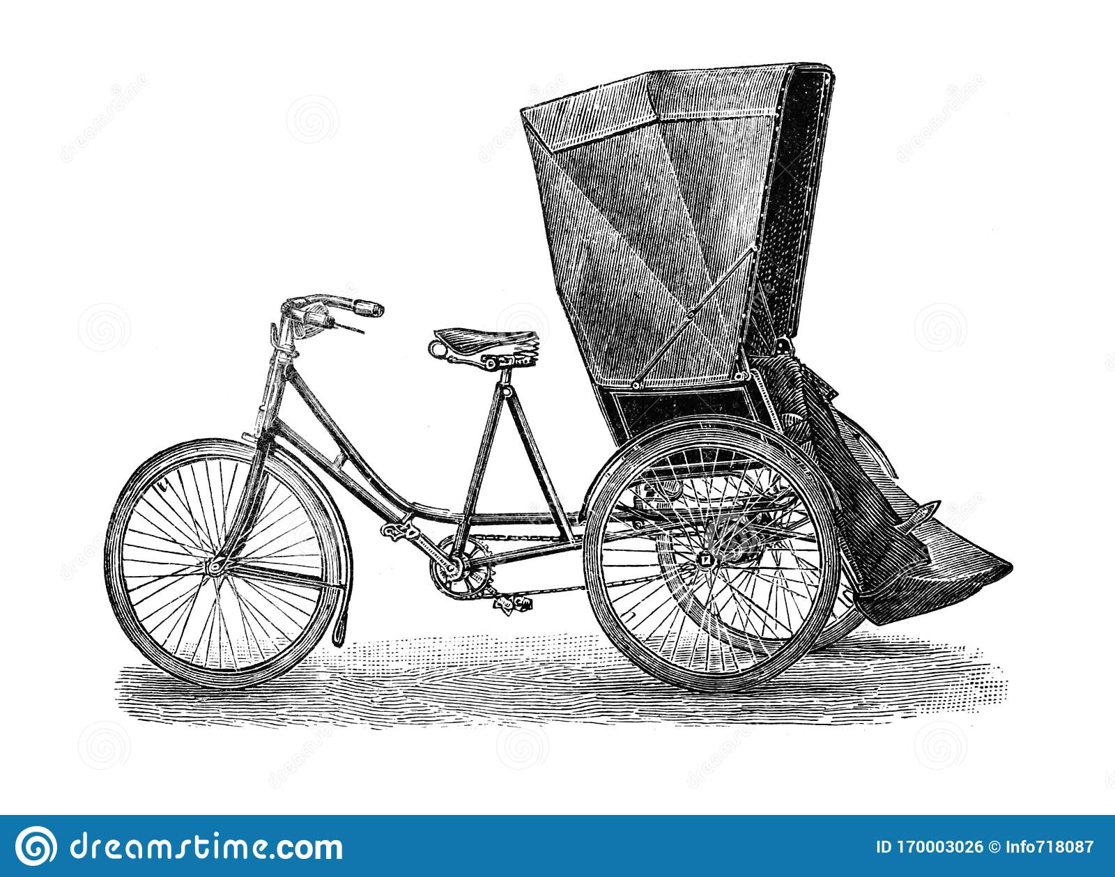 Old Bicycle Tricycle Old Antique Illustration From Brockhaus Konversations Lexikon 1908 Stock Illustration Illustration Of Motor Bicycling 170003026