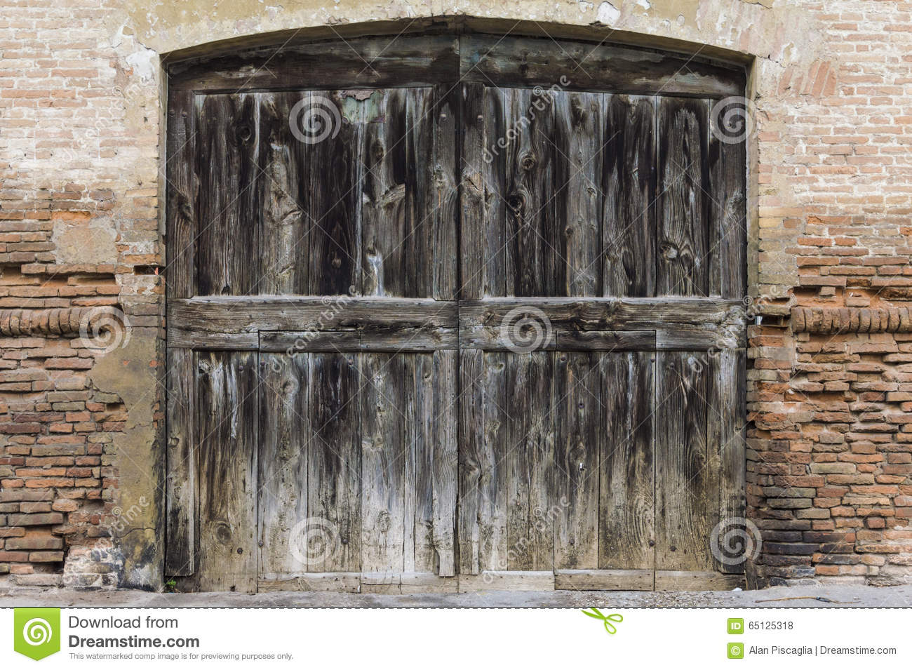Royalty-Free Stock Photo. Download Old Big Wood Door ... & Old Big Wood Door Stock Photo - Image: 65125318 Pezcame.Com