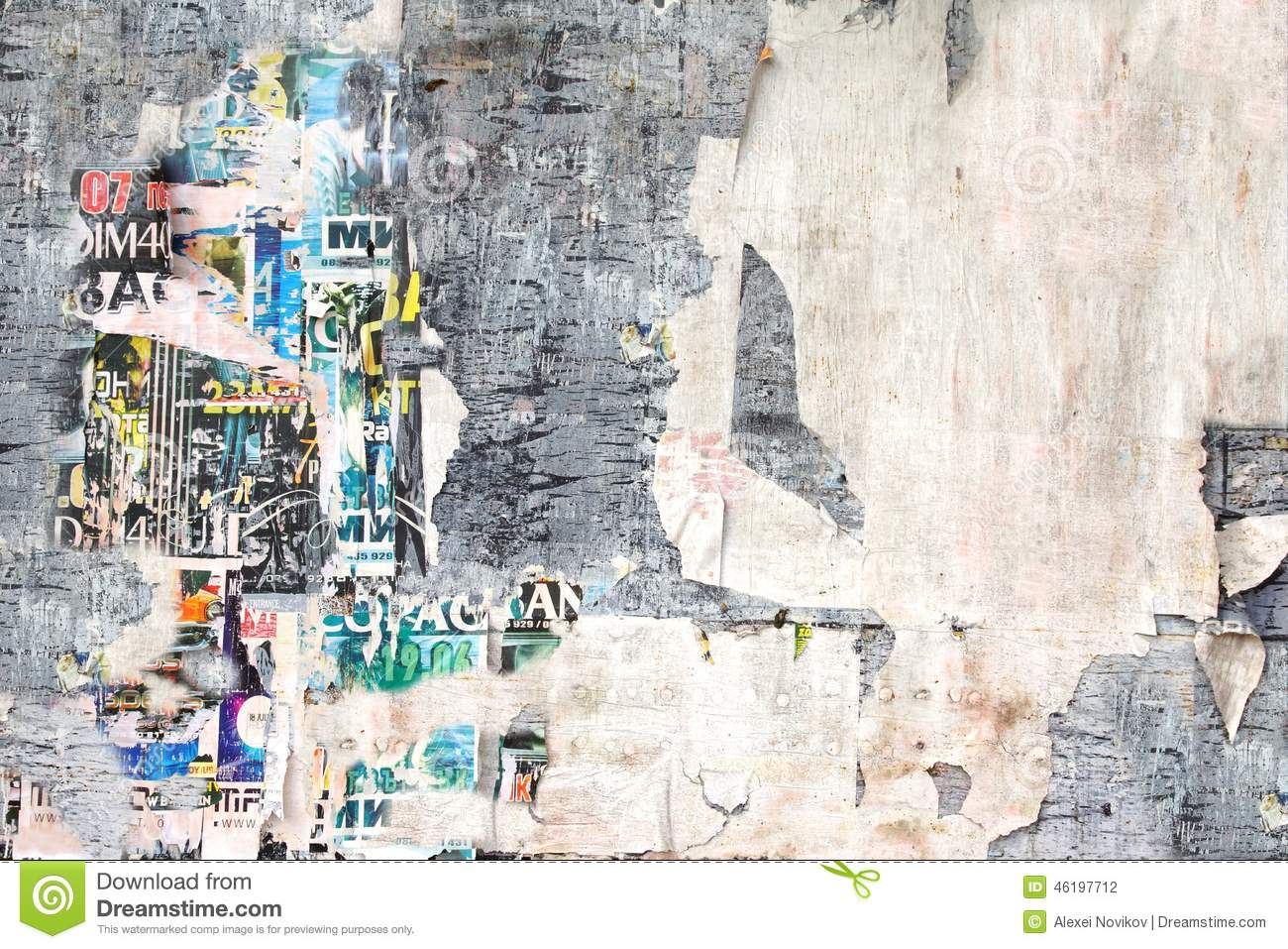 Old Billboard With Torn Posters Stock Photo Image 46197712