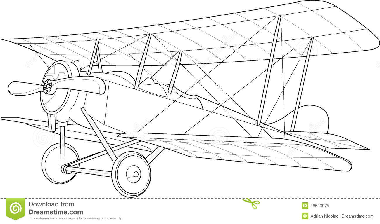 Old Biplane Sketch The Canterbury NZ Aviation Co Ltd