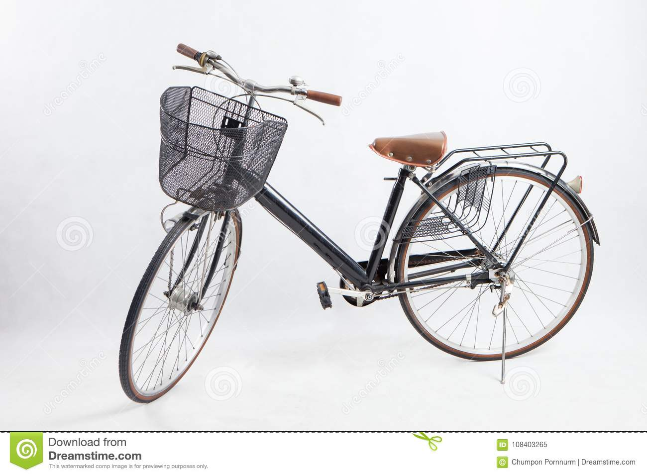 562d122811b Old Black Bike Retro .vintage Bike. Stock Image - Image of ...