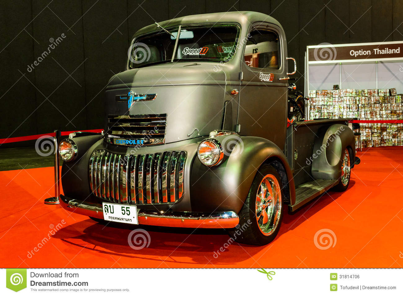 Old Black Chevy Pickup Truck. Stock Photo 31814706 - Megapixl