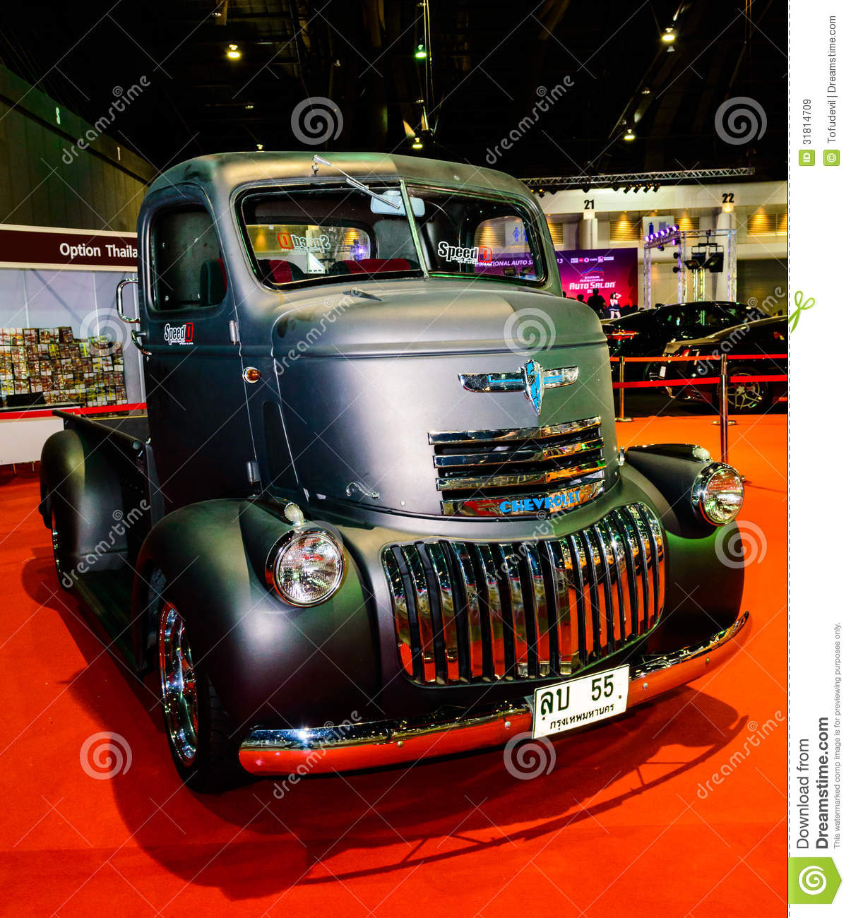 Old Black Chevy Pickup Truck. Editorial Stock Image