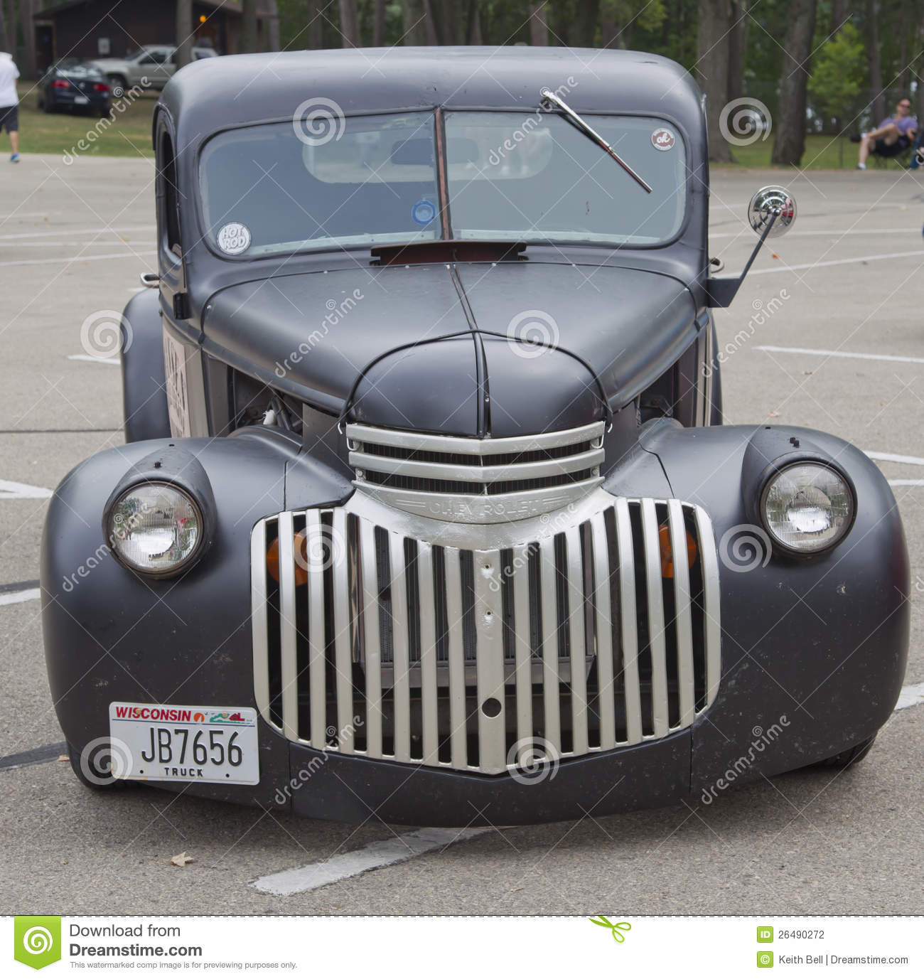 Old Black Chevy Pickup Truck Front View Editorial Photography ...
