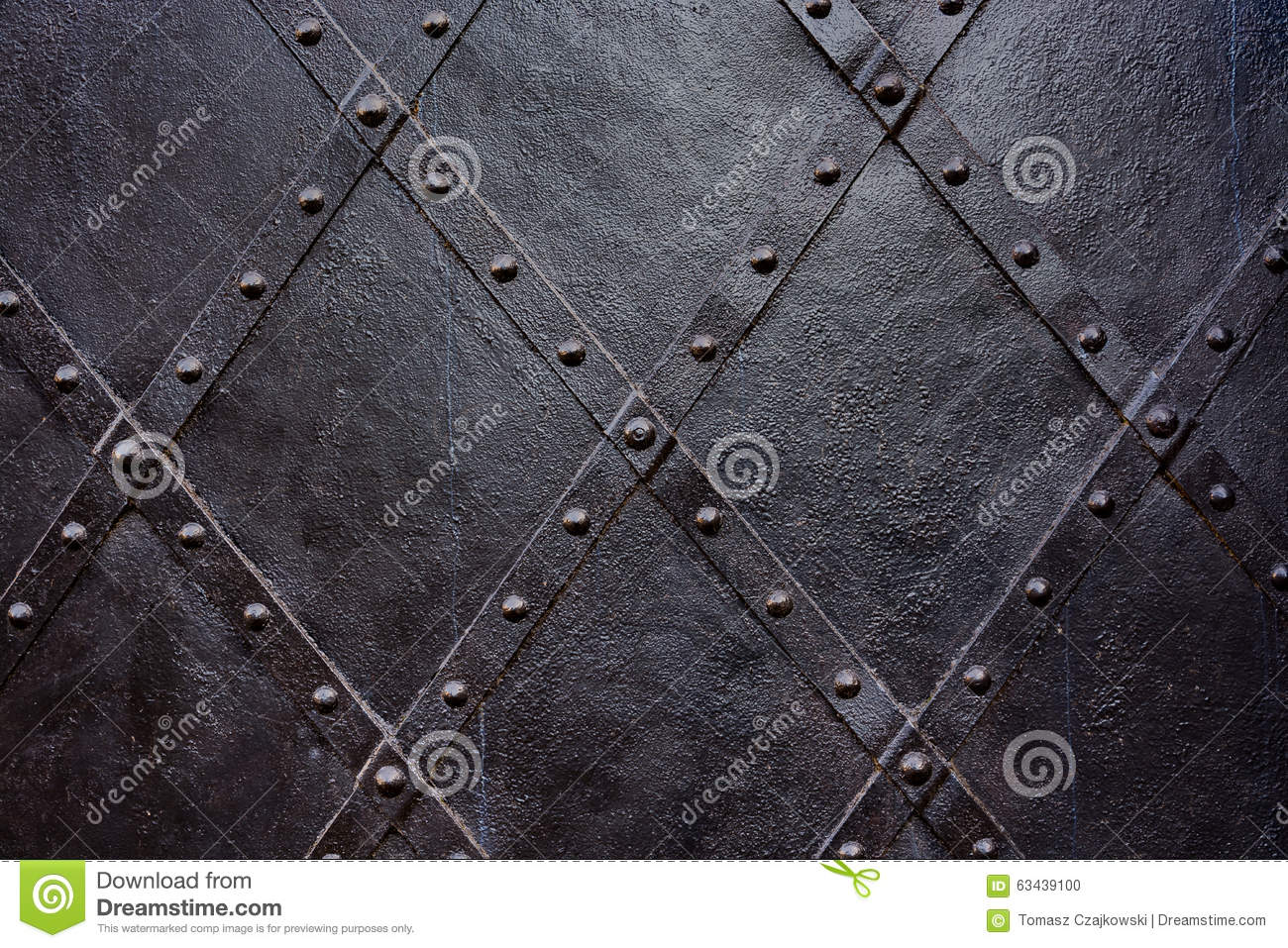 Old black iron door background, texture, wallpaper, pattern