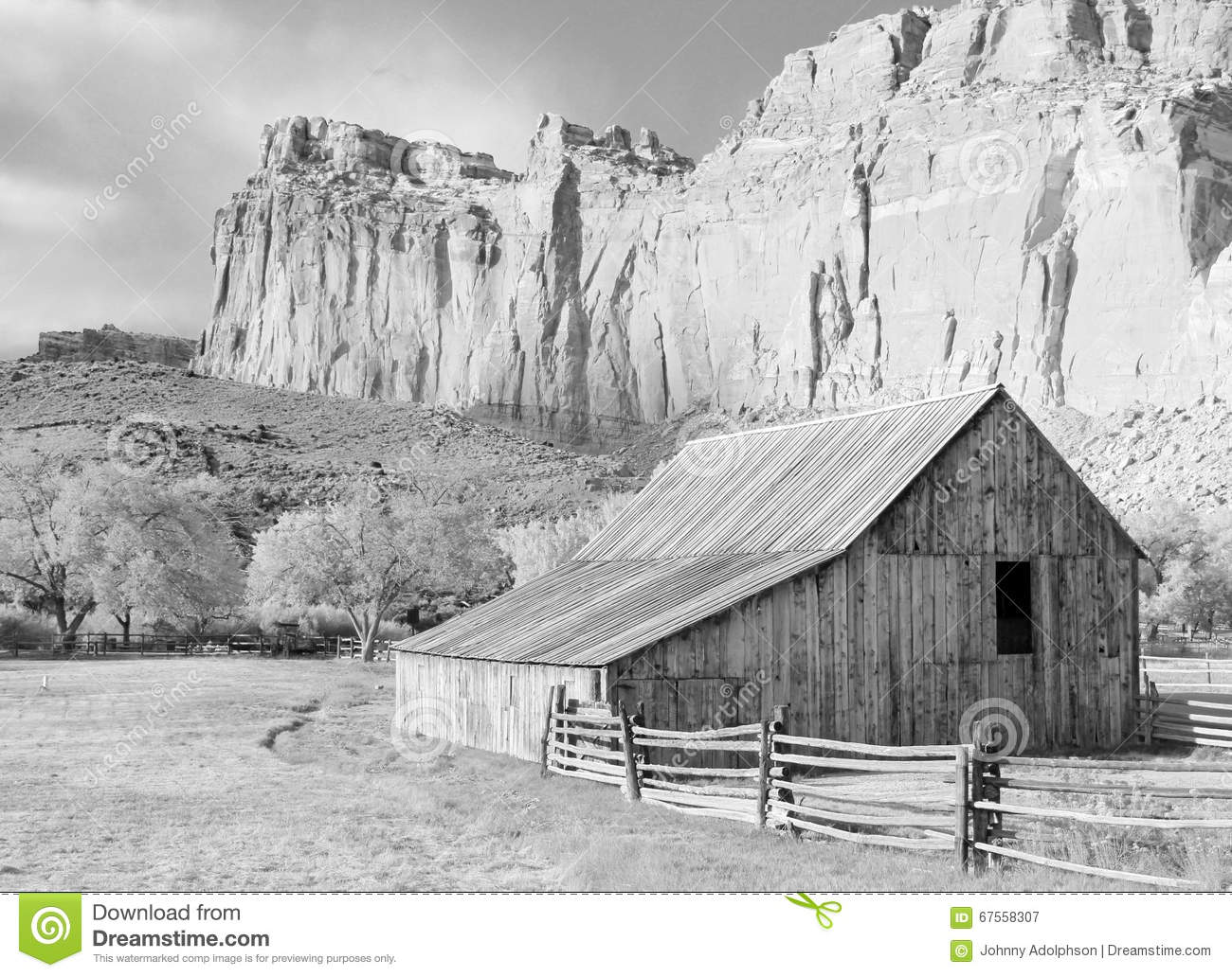 Old Black And White Barn Stock Image Of Awesome
