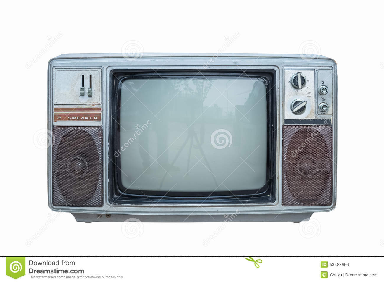 Old Black And White Television Stock Photo Image Of Show Blank