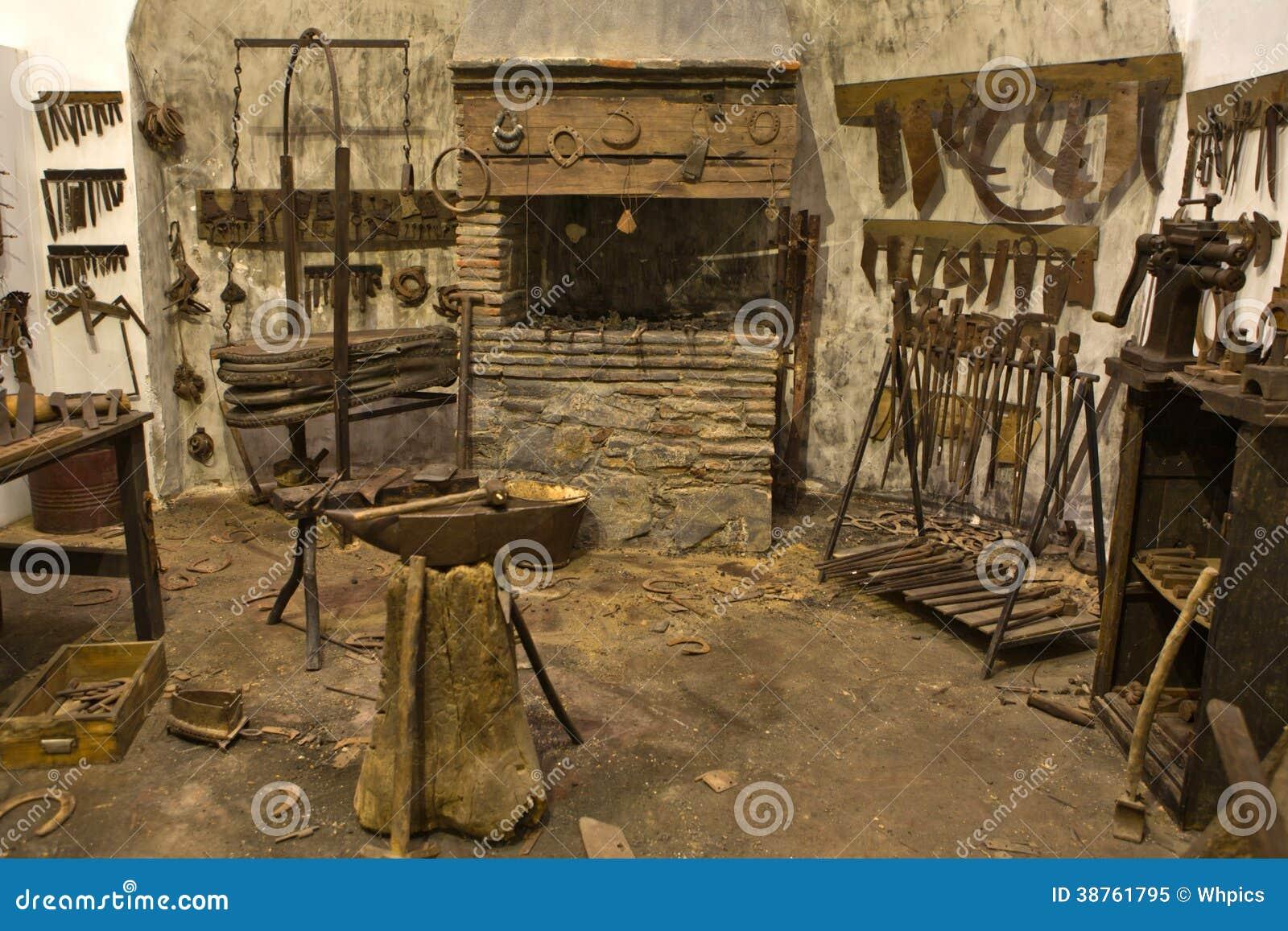 blacksmith workshop. royalty-free stock photo. download old blacksmith workshop i