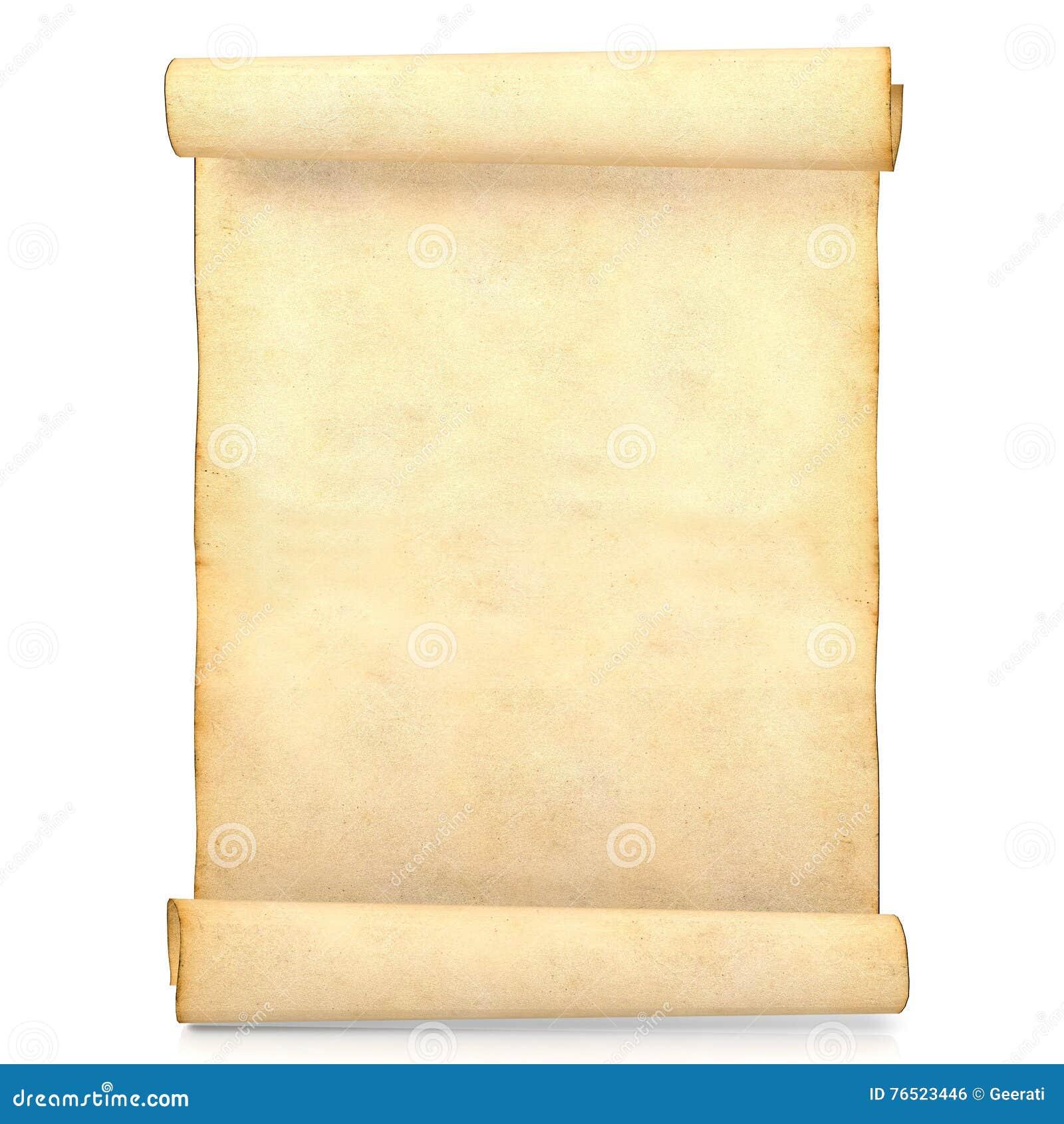 Antique Scroll Paper