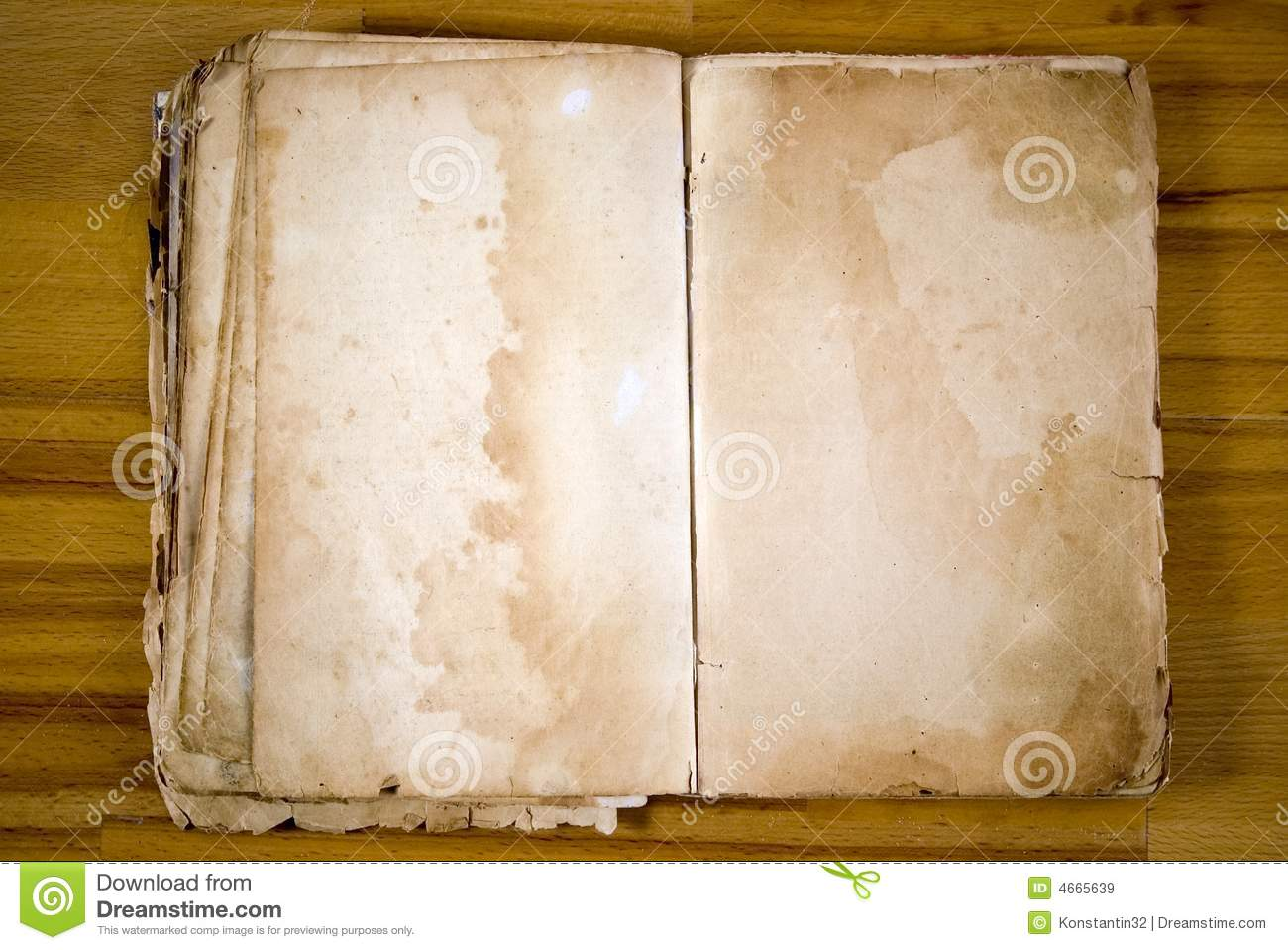 Old Blank Book Antique Royalty Free Stock Images