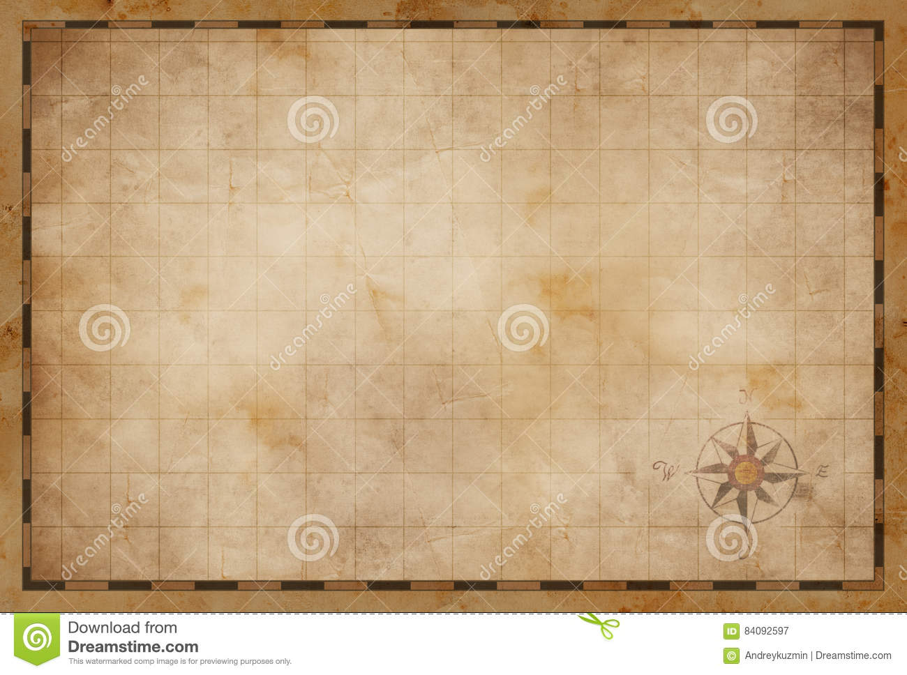 Old Blank Treasure Map Background