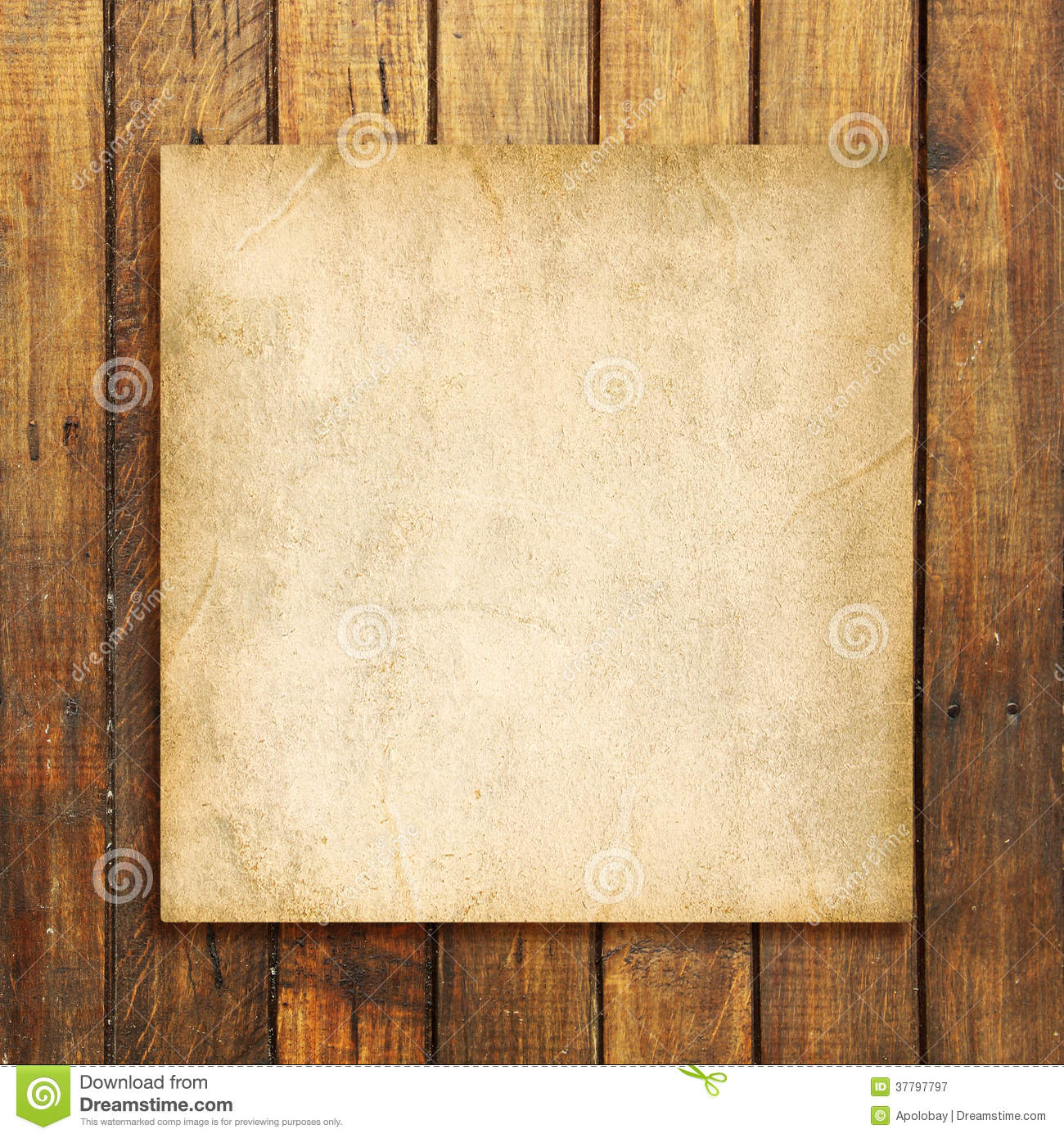 Old Blank Paper On Brown Weathered Wooden Background  Blank Paper Background