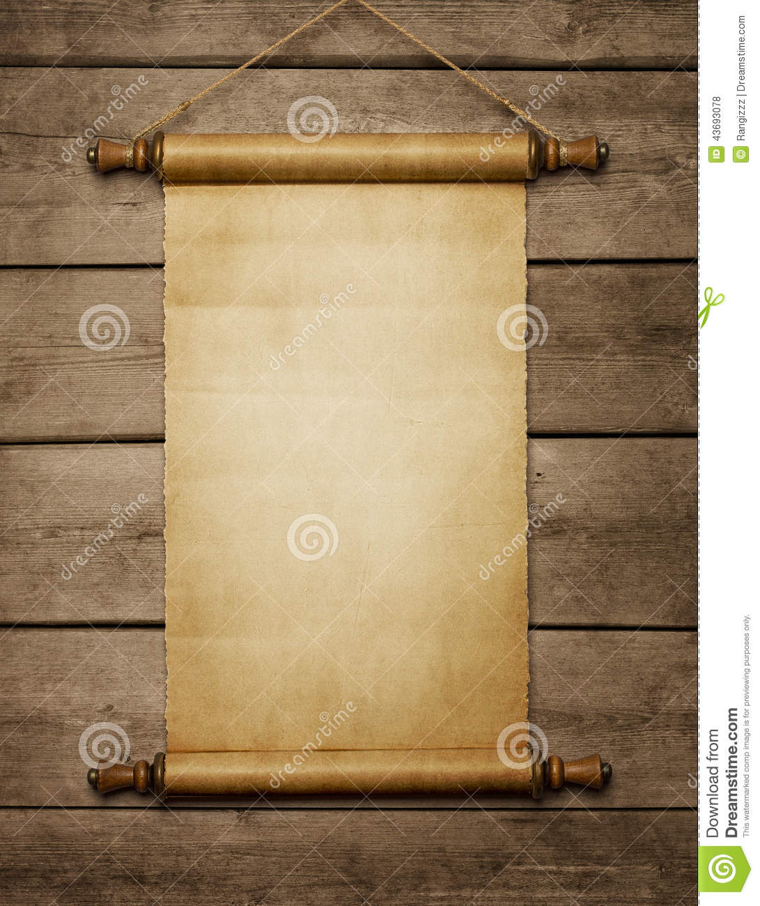 Old Blank Paper Scroll Stock Photo Image 43693078
