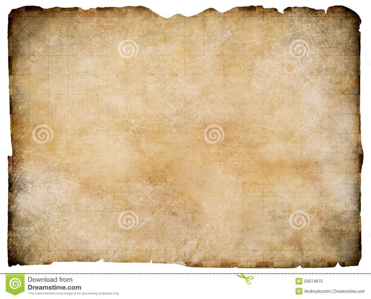 Old Treasure Map On Parchment Stock Photography Image - Us parchment map