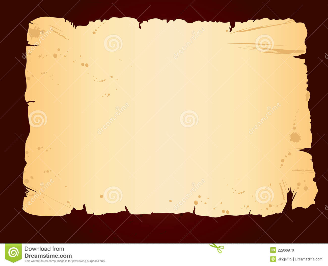 Old Blank Sheet Of Paper Stock Vector. Illustration Of
