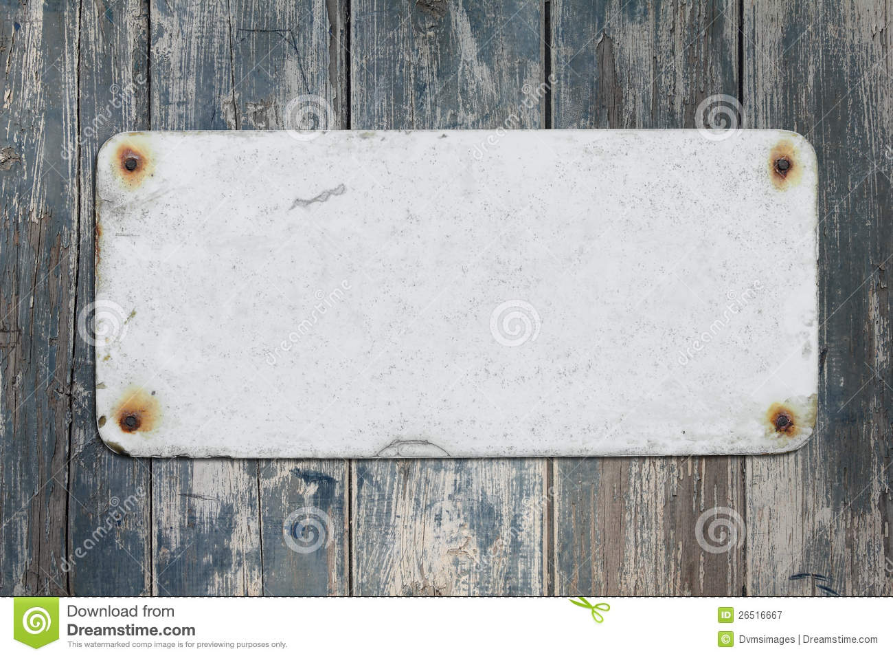 Old Blank Sign And Wall Royalty Free Stock Photography