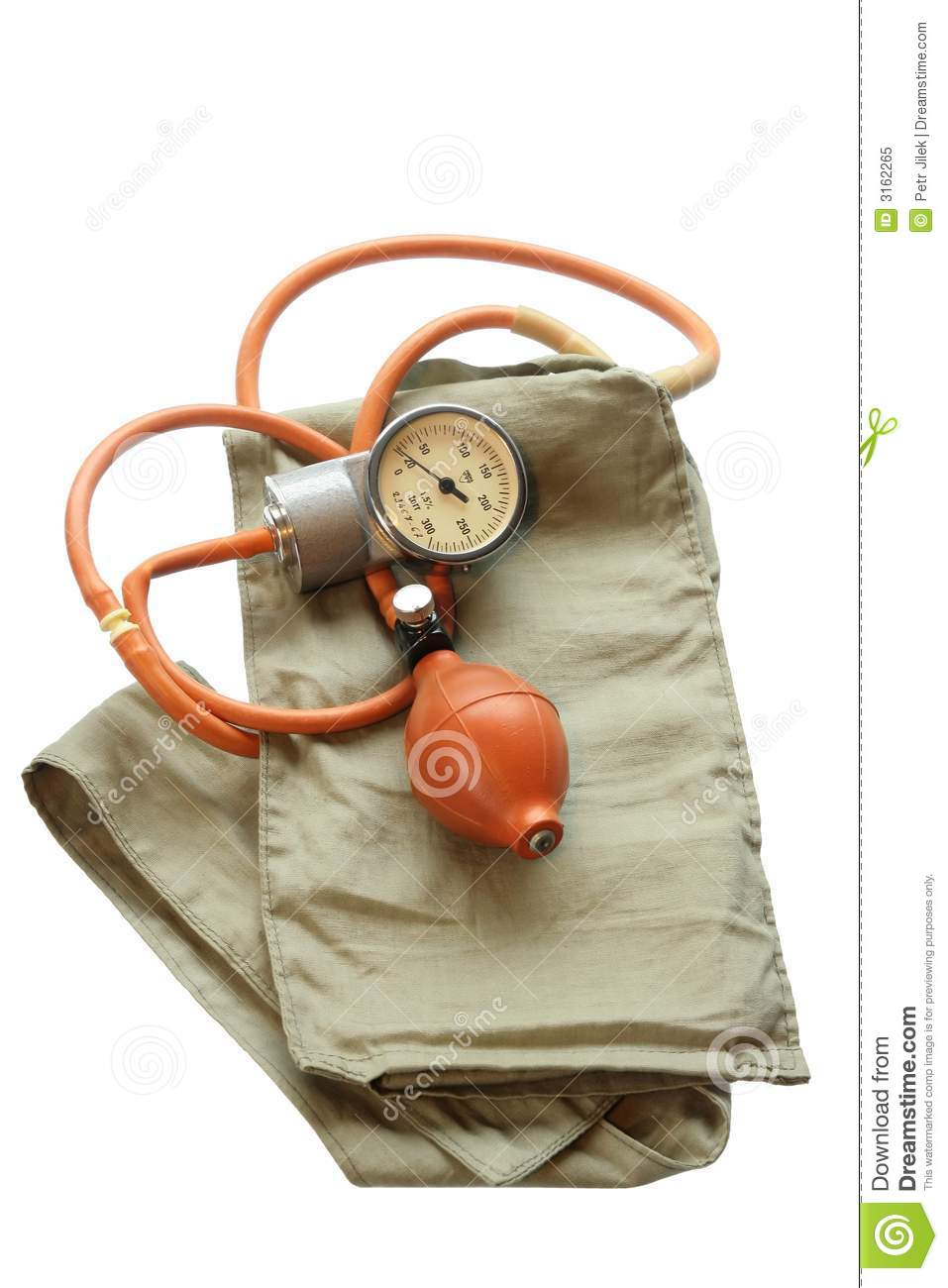 Old Blood Pressure Cuff Royalty Free Stock Photo Image 3162265