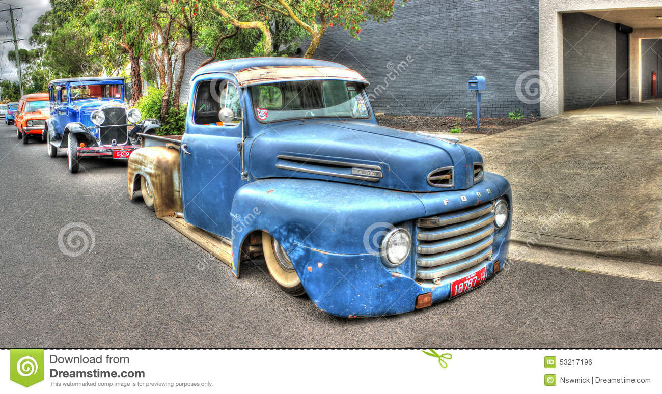 Old Blue Ford Pick Up Truck Editorial Photo - Image of classic ...